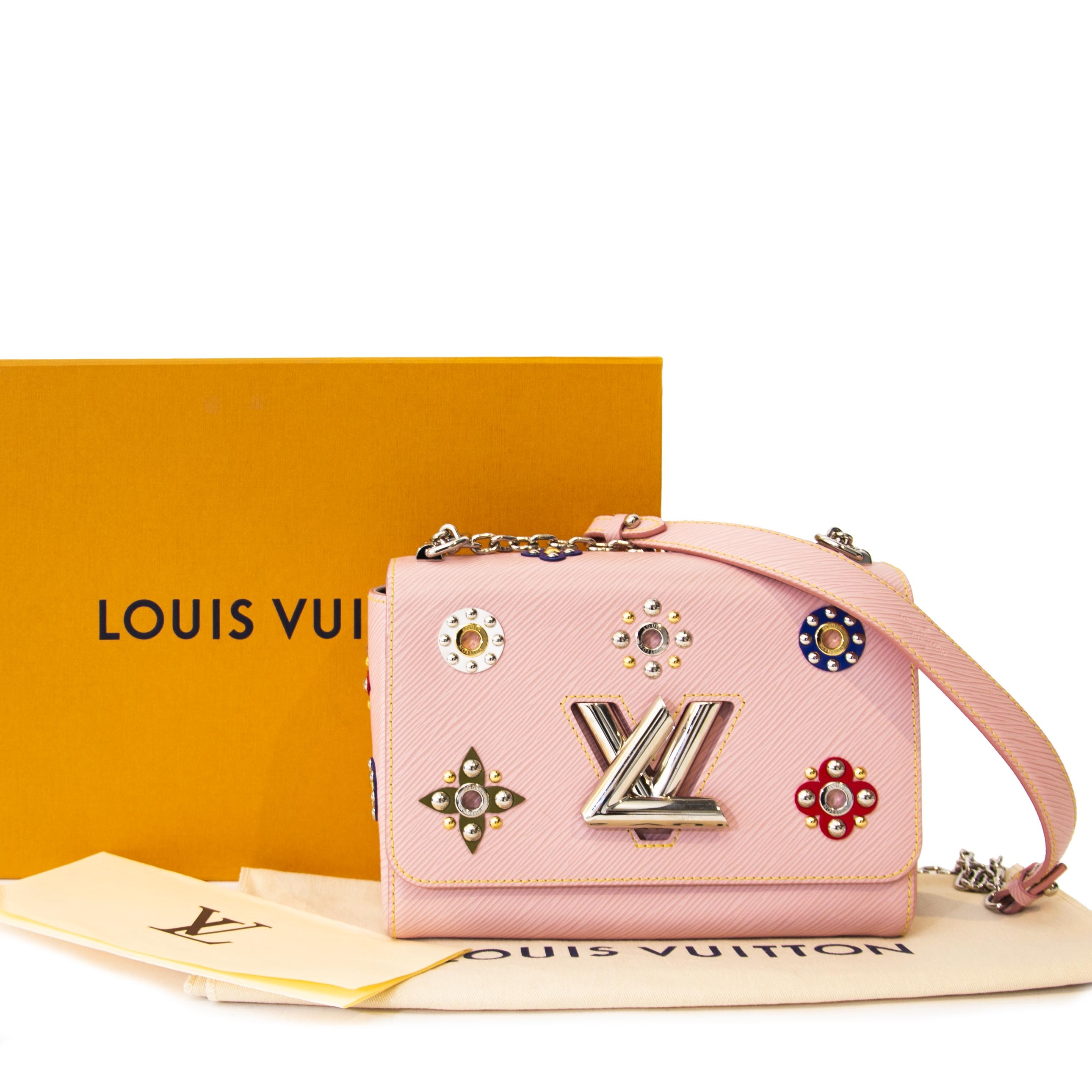 Louis Vuitton Twist MM Epi Monogram Flower Rose