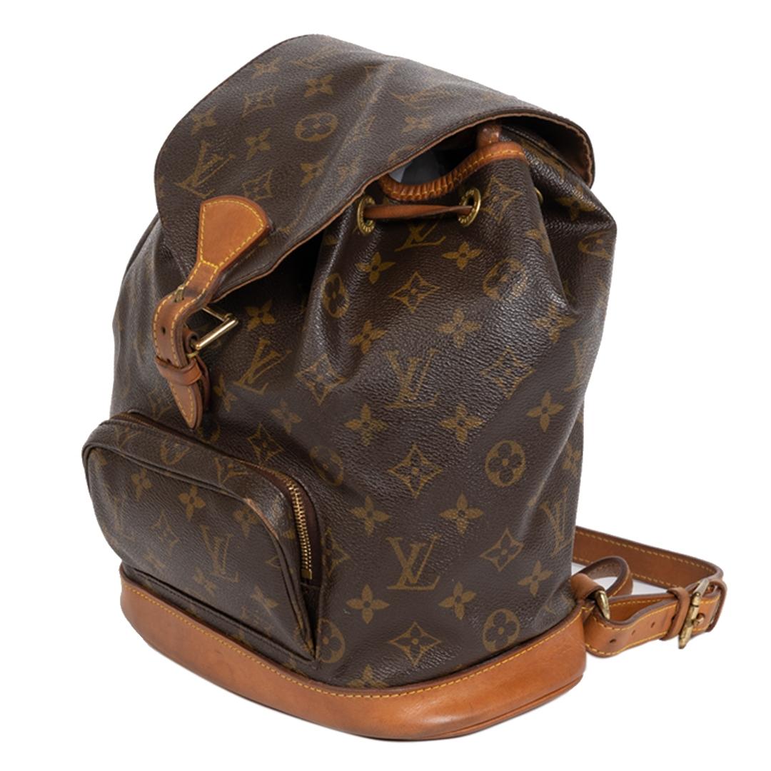 Authentieke Tweedehands Louis Vuitton Mini Montsouris Monogram Canvas Backpack juiste prijs veilig online shoppen luxe merken webshop winkelen Antwerpen België mode fashion
