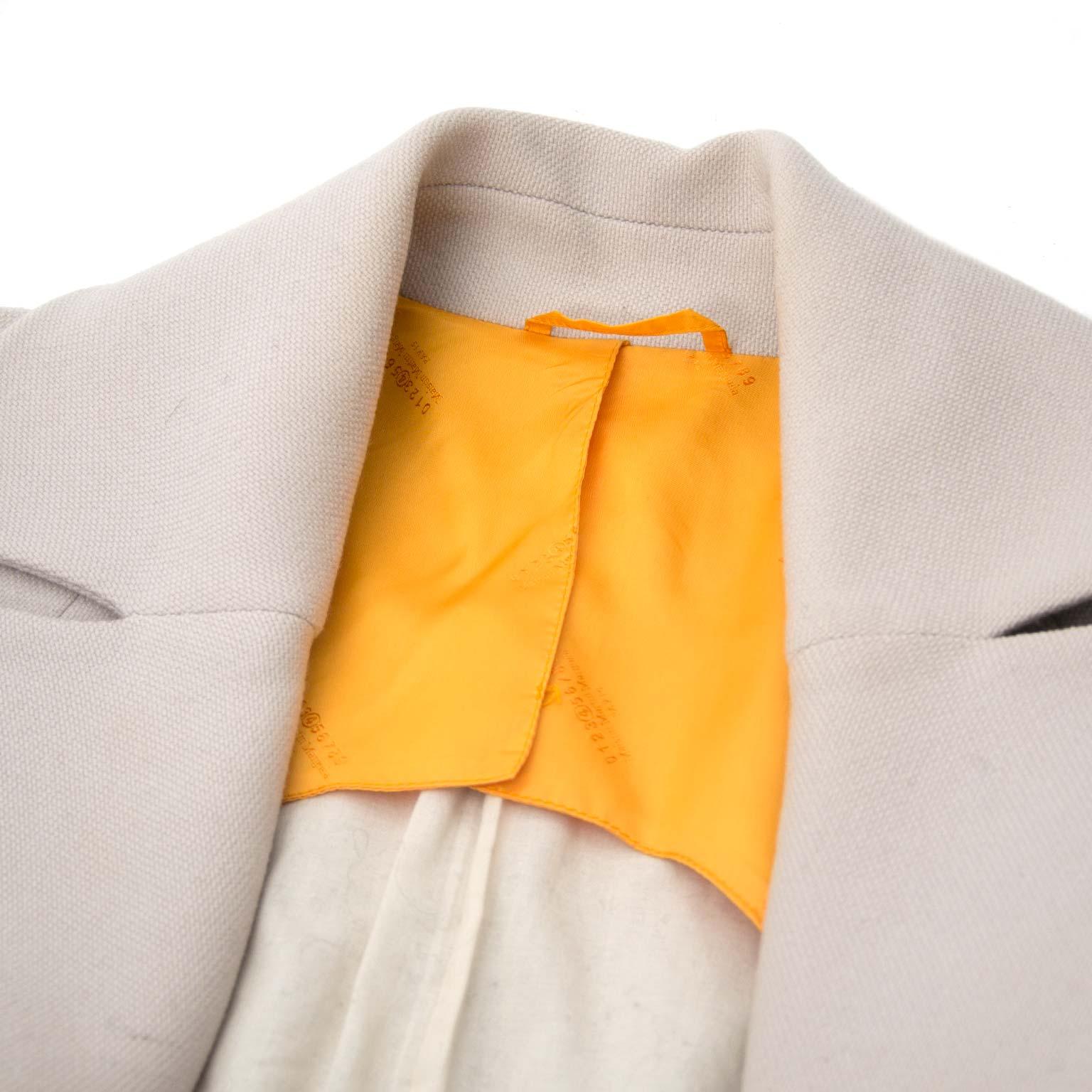 maison martin margiela beige jas nu te koop bij labellov.com tegen de beste prijs