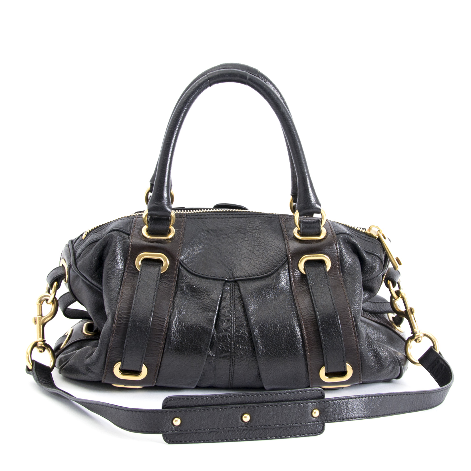shop safe online your Marc Jacobs Black Leather Bag