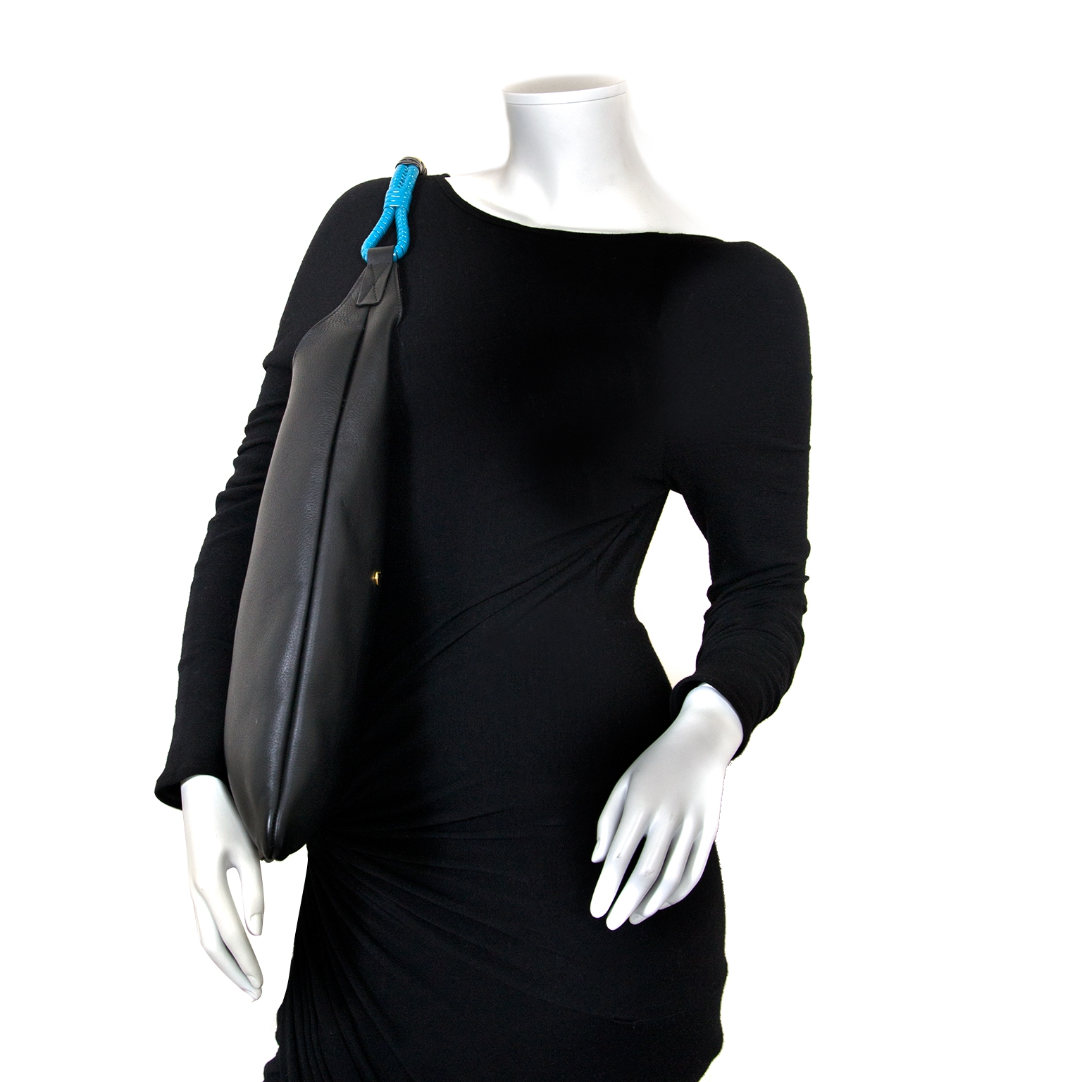 marni black leather tote bag now for sale at labellov vintage fashion webshop belgium