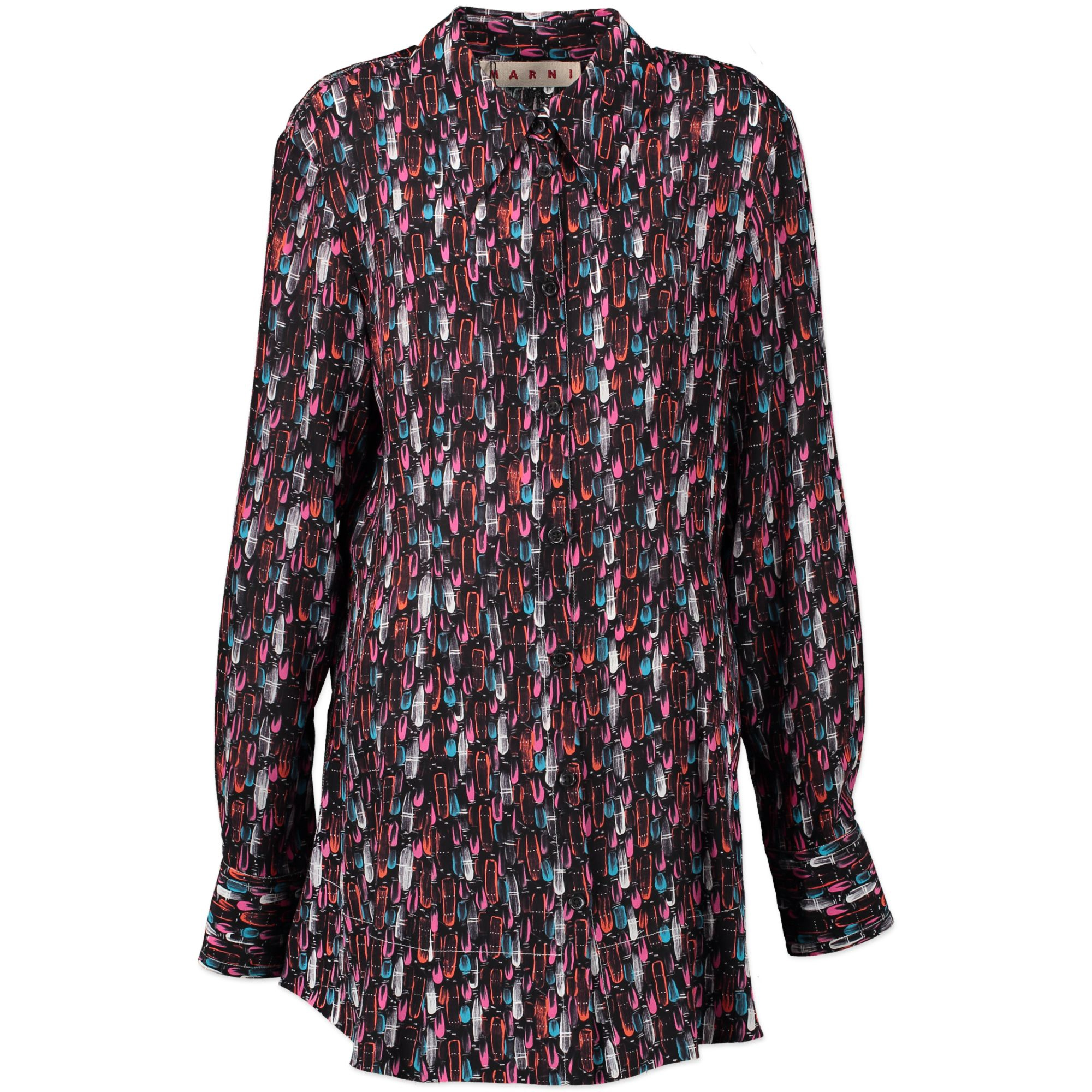 Marni Silk Paint Splatter Blouse - size IT46