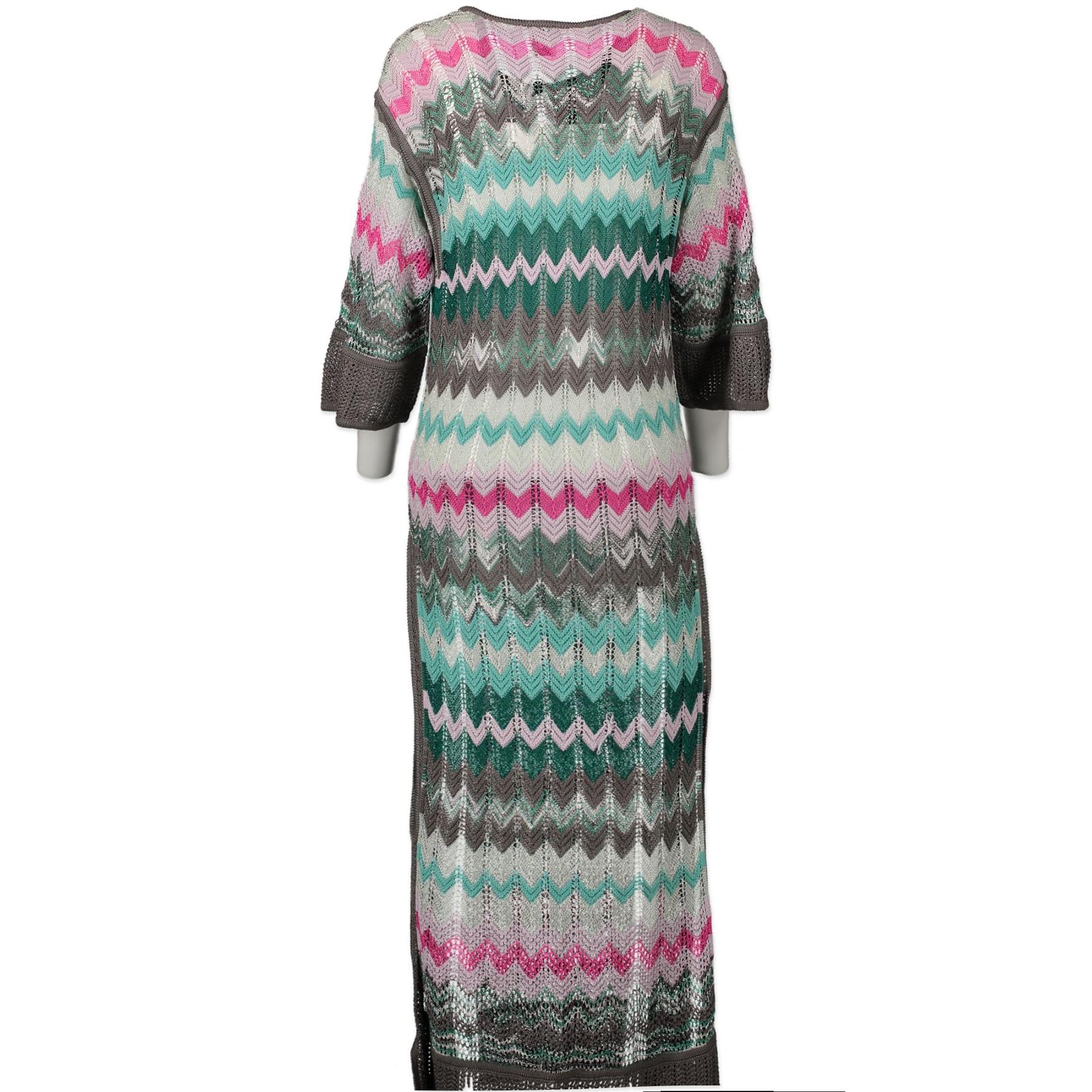 Authentieke Tweedehands Missoni Crochet Long Dress - Size 38 juiste prijs veilig online shoppen luxe merken webshop winkelen Antwerpen België mode fashion