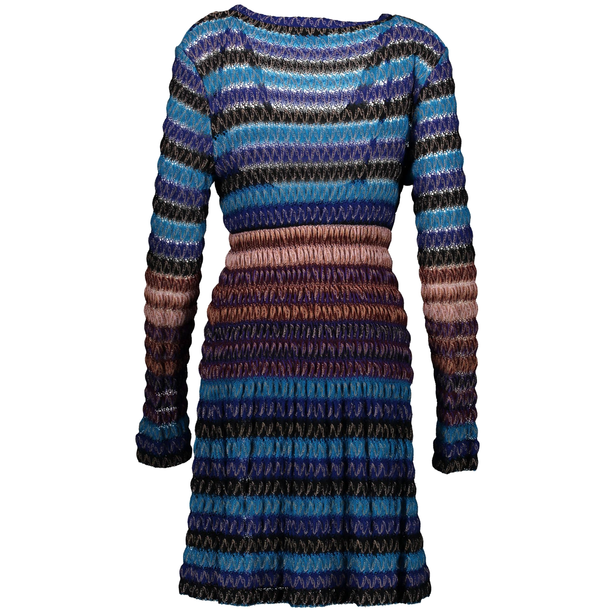 Missoni Blue and Purple Knitted Dress - Size 44
