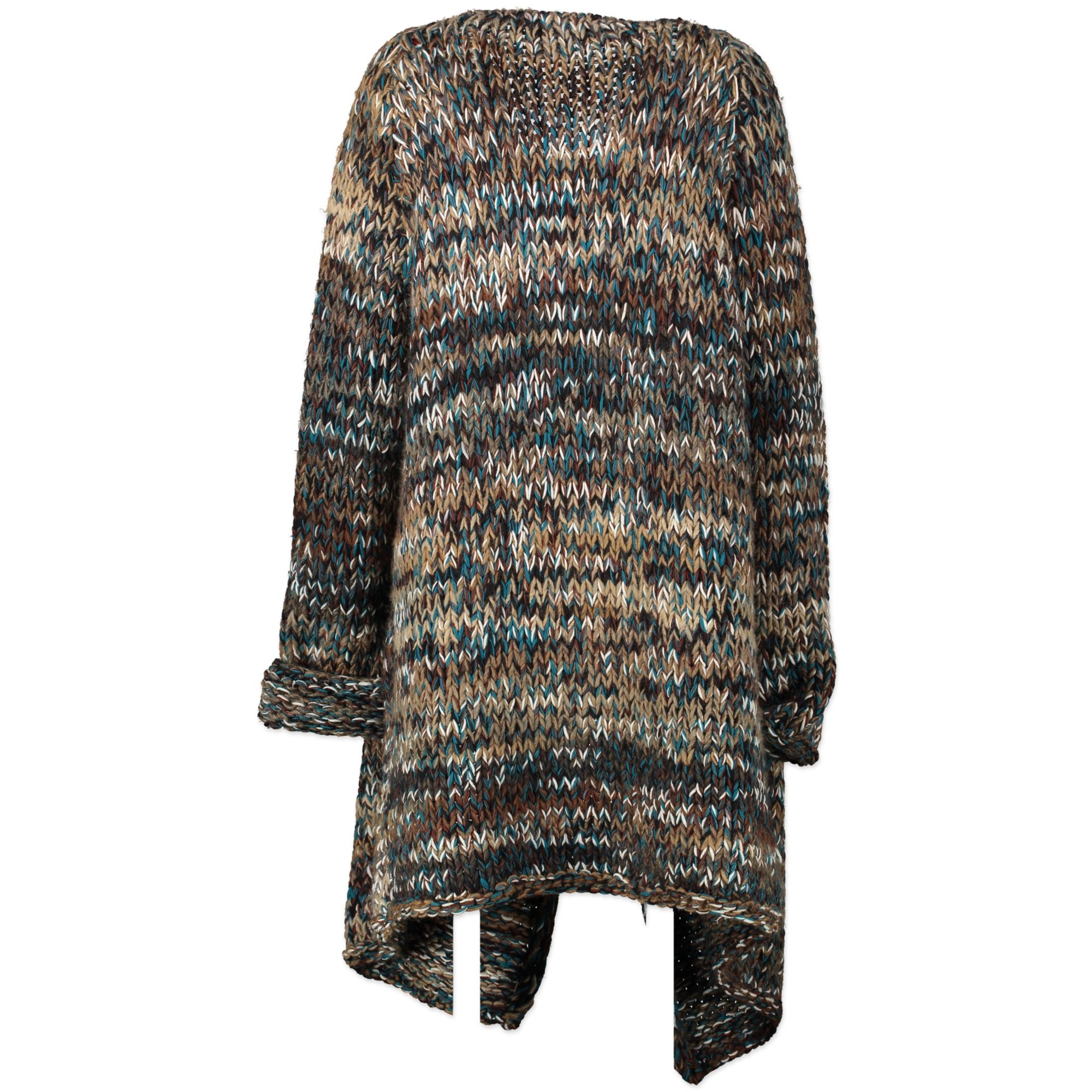 Misssoni Wool-Blend Cable-Knit Cardigan Multicolor