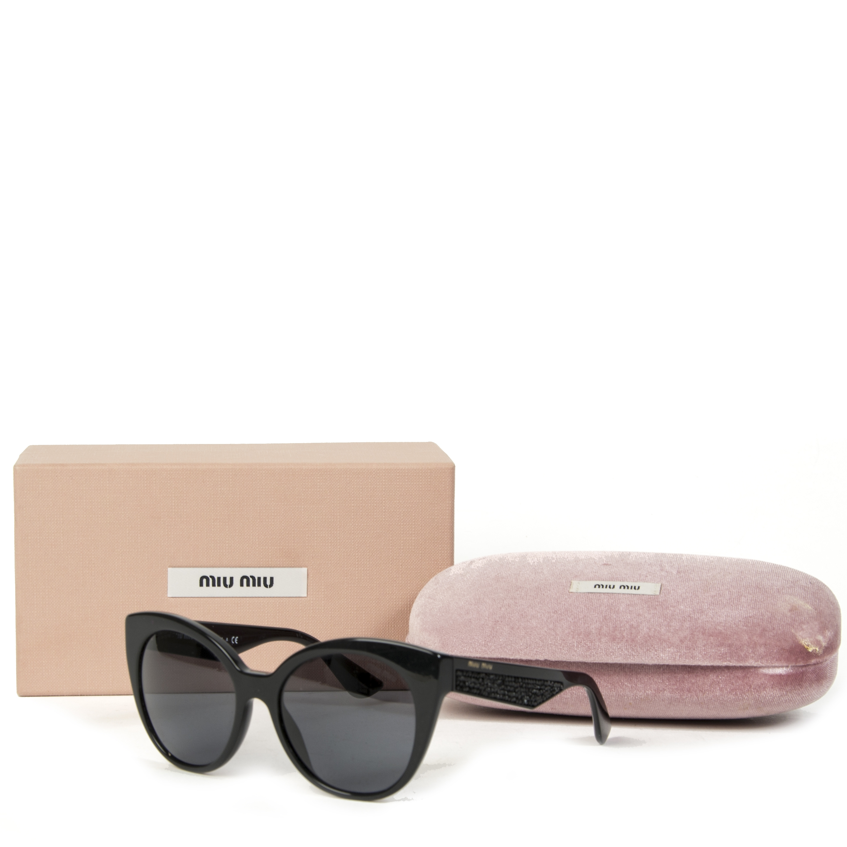 Miu Miu Cateye Crystal Sunglasses