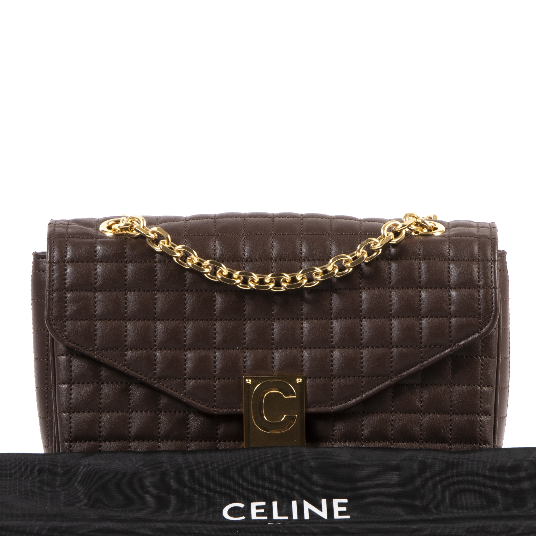Celine C-Bag Brown Medium Matelasse Bag