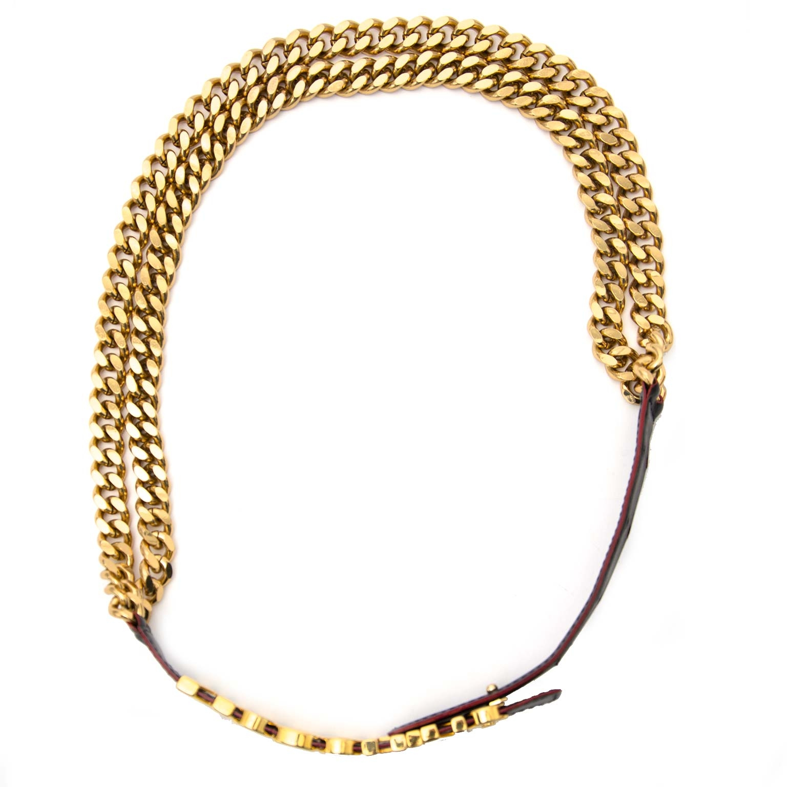 Moschino Gold Toned Chain Belt now online at labellov.com for the best price