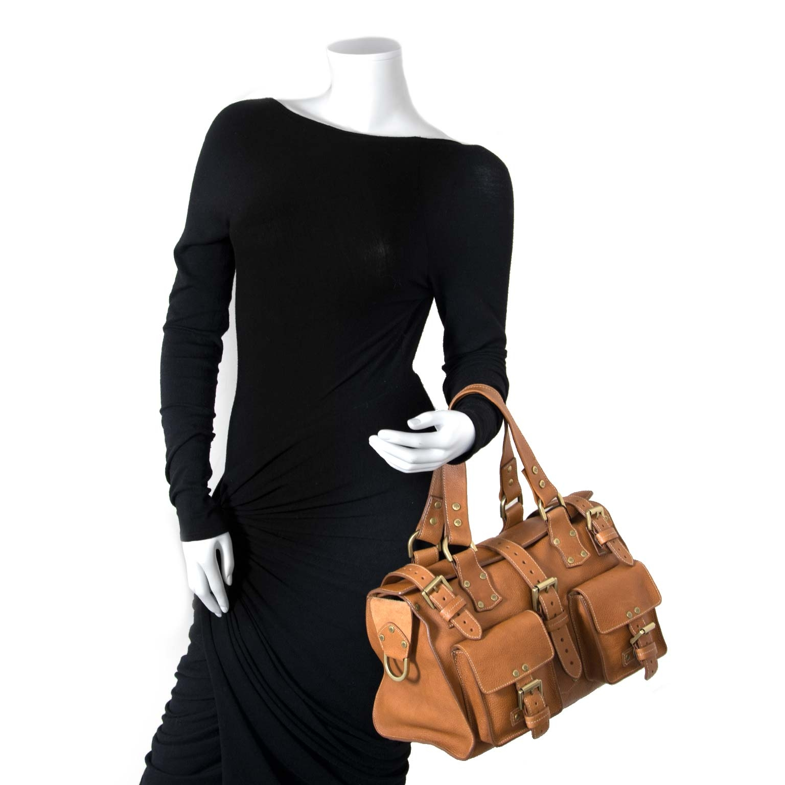 mulberry brown roxanne bag now for sale at labellov vintage fashion webshop belgium