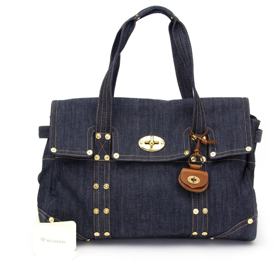 koop veilig aan de beste prijs Mulberry Denim Bayswater Shopping Bag  tweedehands shopper