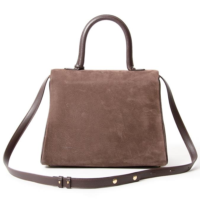 Delvaux Brillant MM Dark Brown Nubuck GHW veilig online shoppen webshop Antwerpen België LabelLOV designer merken luxemerken luxetassen tassen handtassen mode stijl