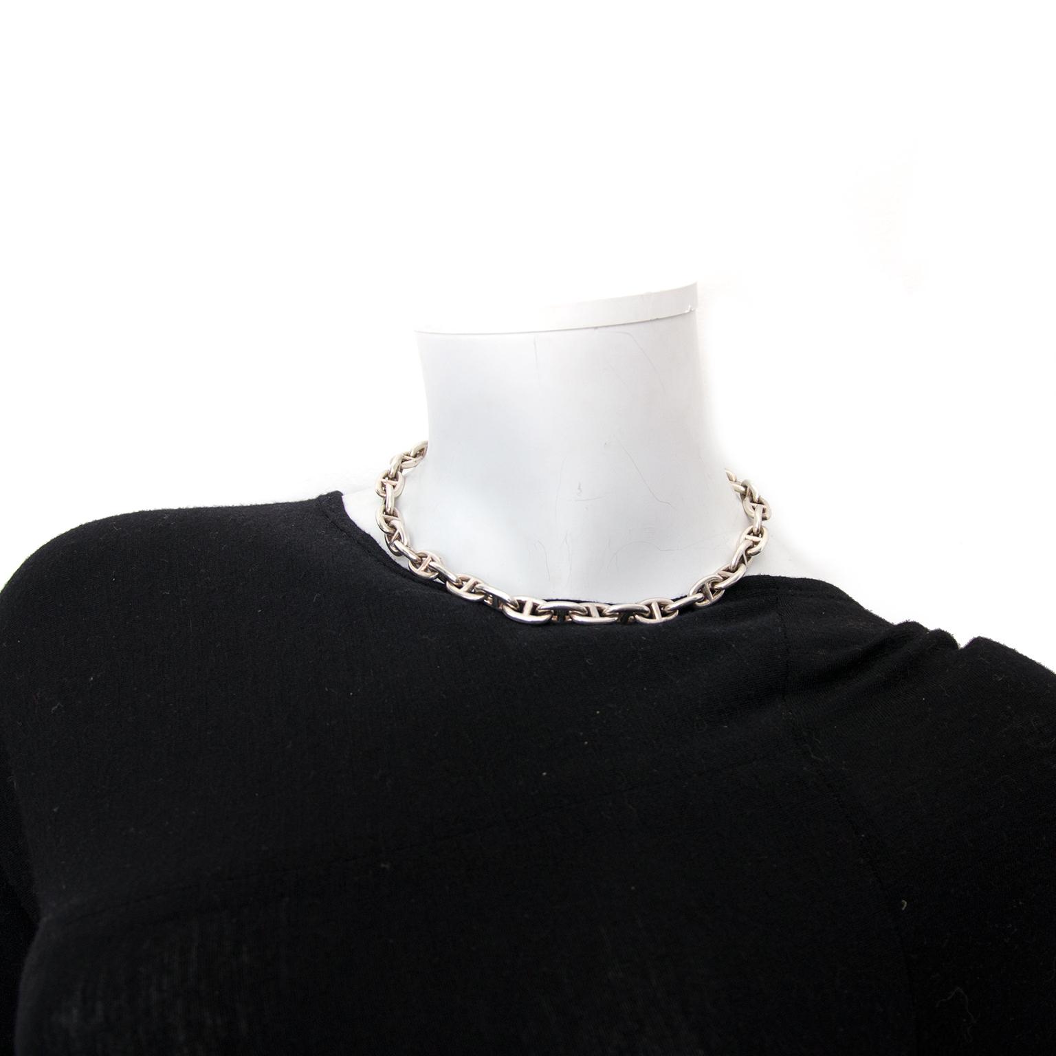 koop veilig online bij labellov.com tegen de beste prijs Hermès Chaine D'ancre zilveren ketteing