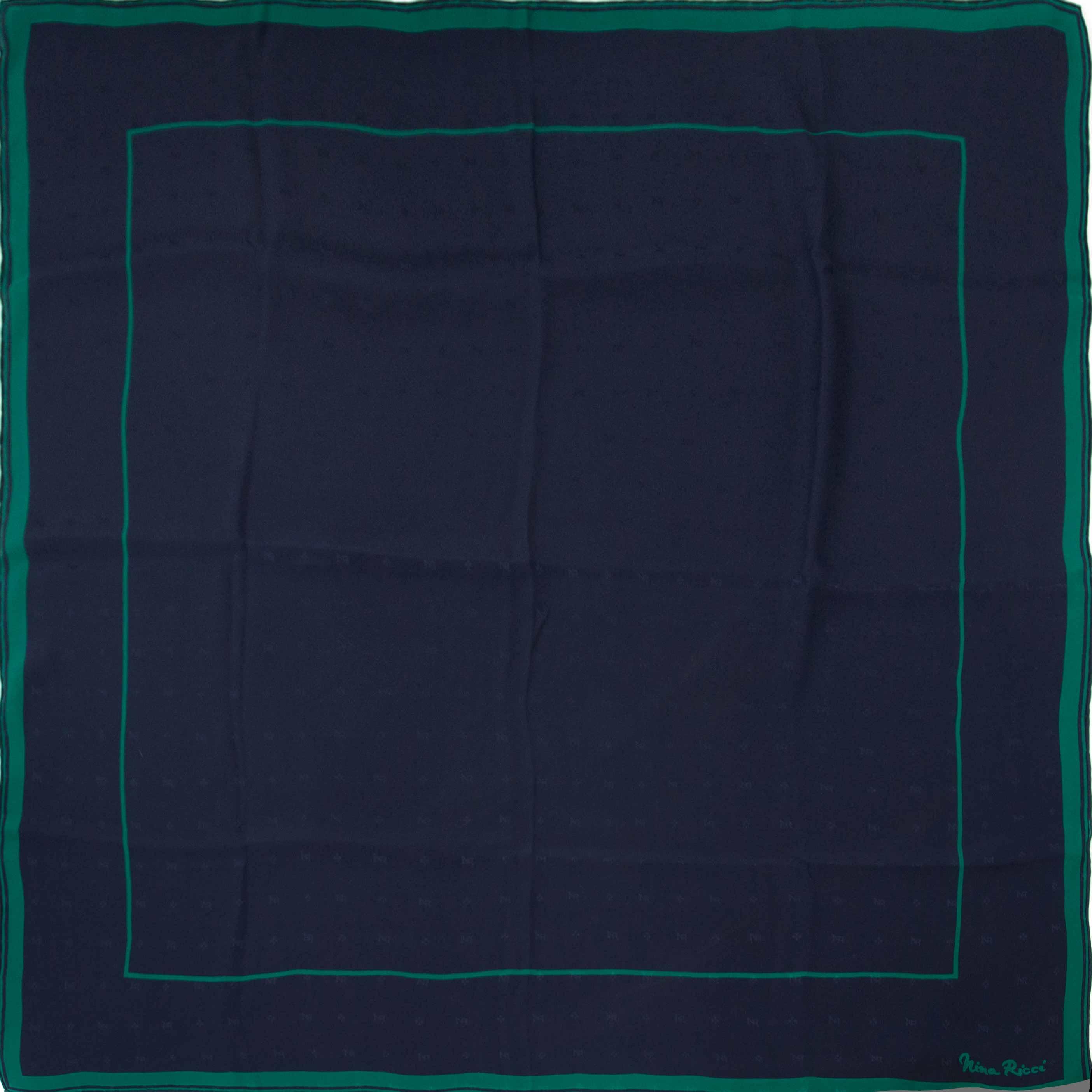 acheter en ligne seconde main Nina Ricci Blue And Green Scarf