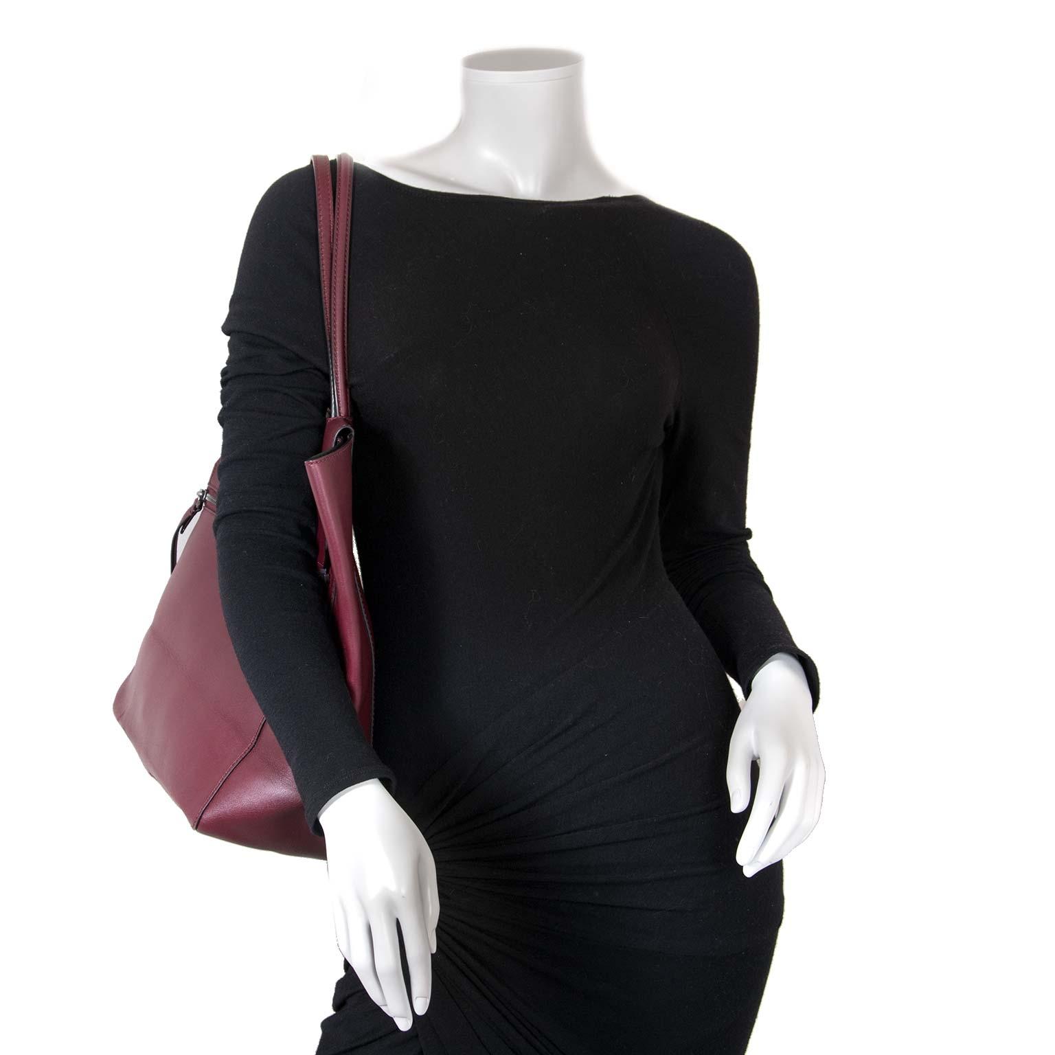 phillip lim bordeaux lederen shopper nu te koop bij labellov vintage mode webshop belgië