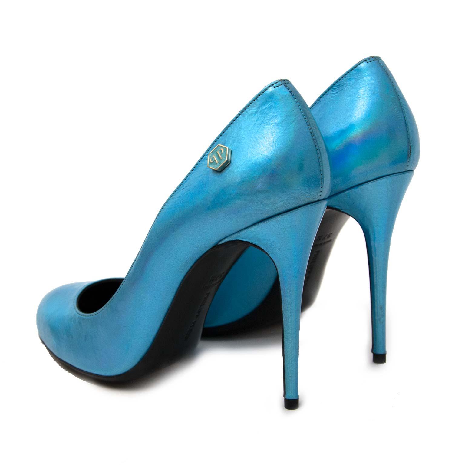 Philipp Plein 'Fortuna Plango' Irridescent Blue Pumps