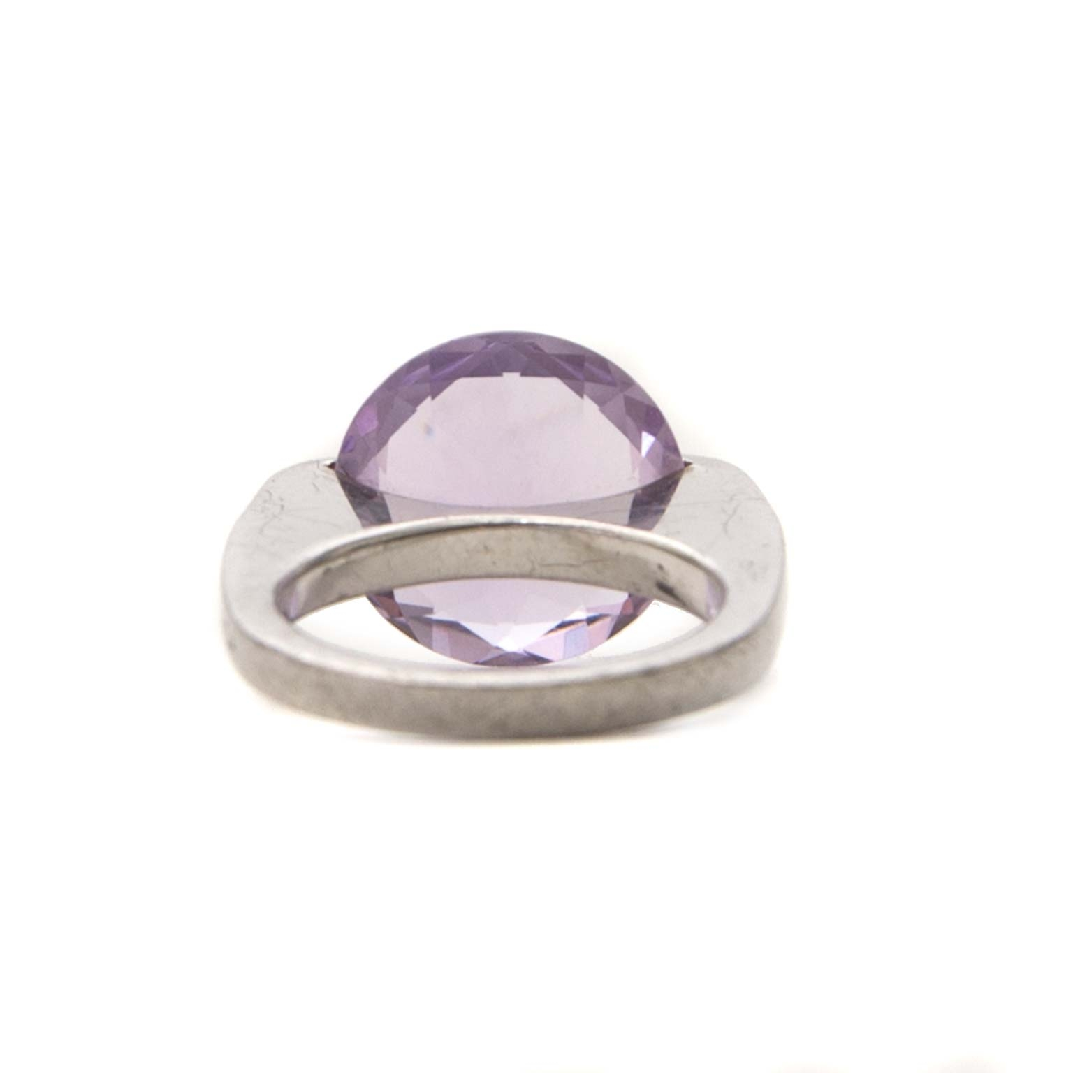 pianegonda silver ring with purple stone now for sale at labellov vintage fashion webshop belgium