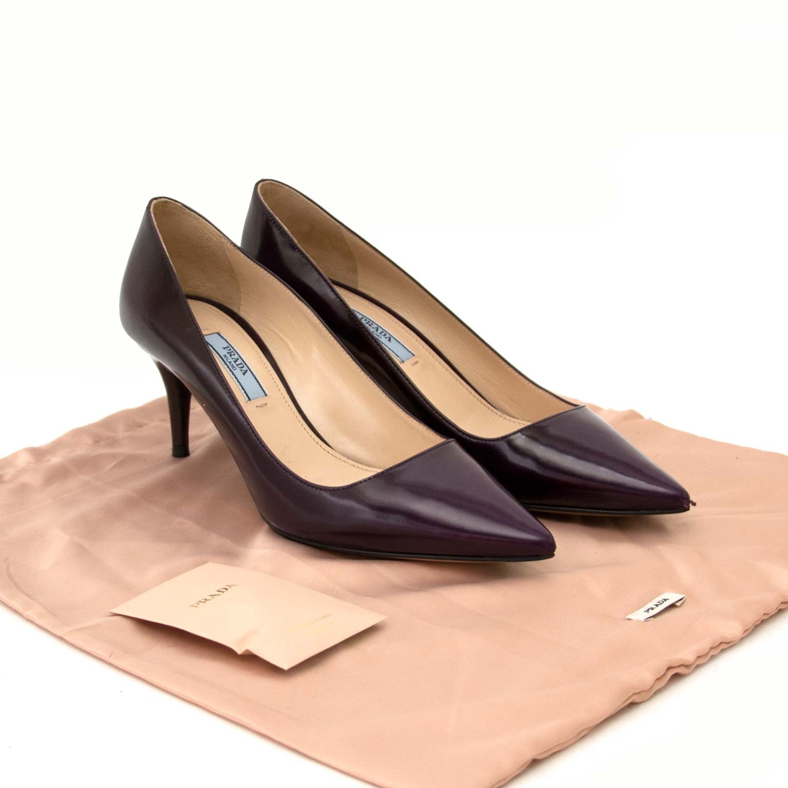 prada aubergine kitten heels for sale at labellov vintage fashion webshop for the lowest price