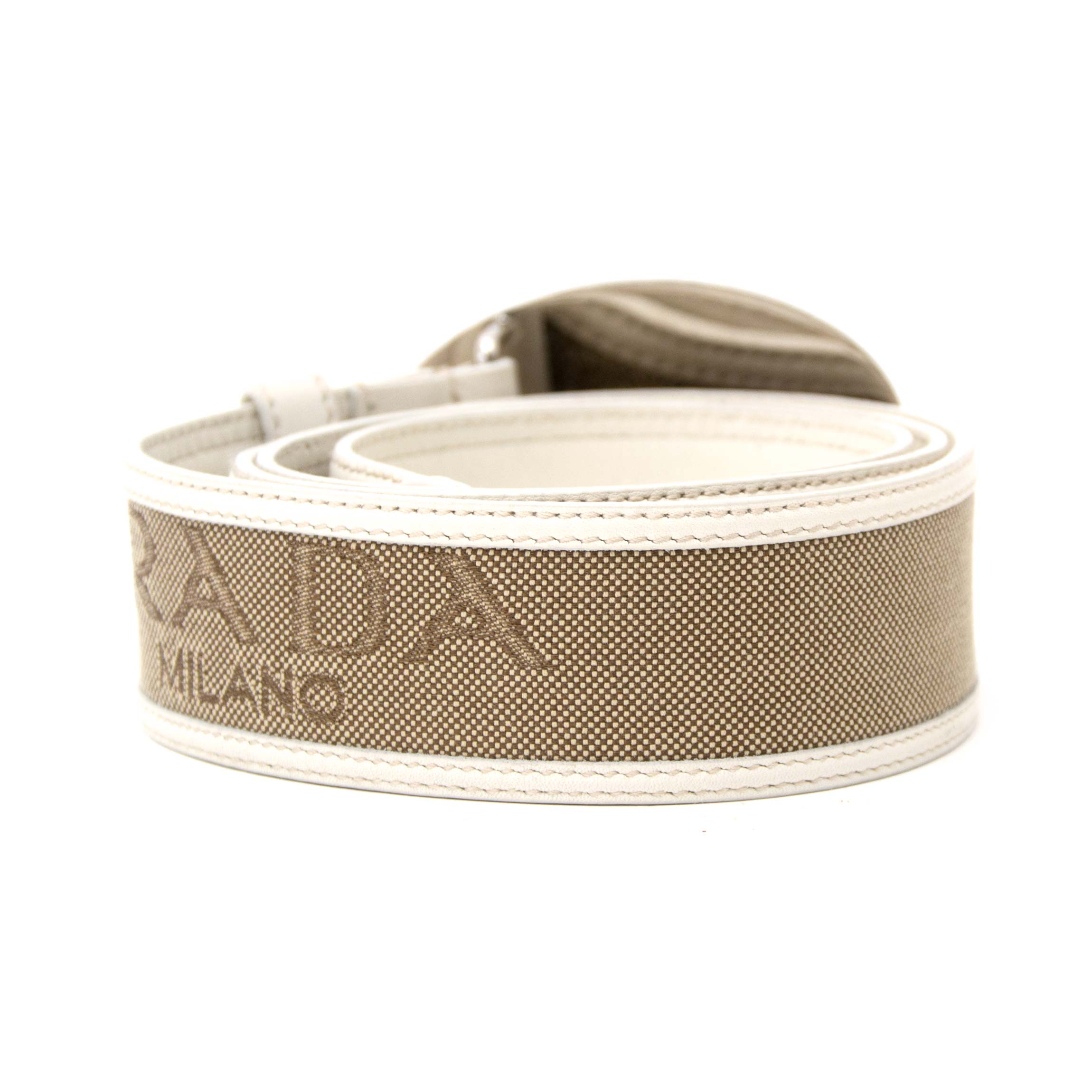Prada Logo Belt for sale, www.labellov.com, worldwide shipping and secure shopping.