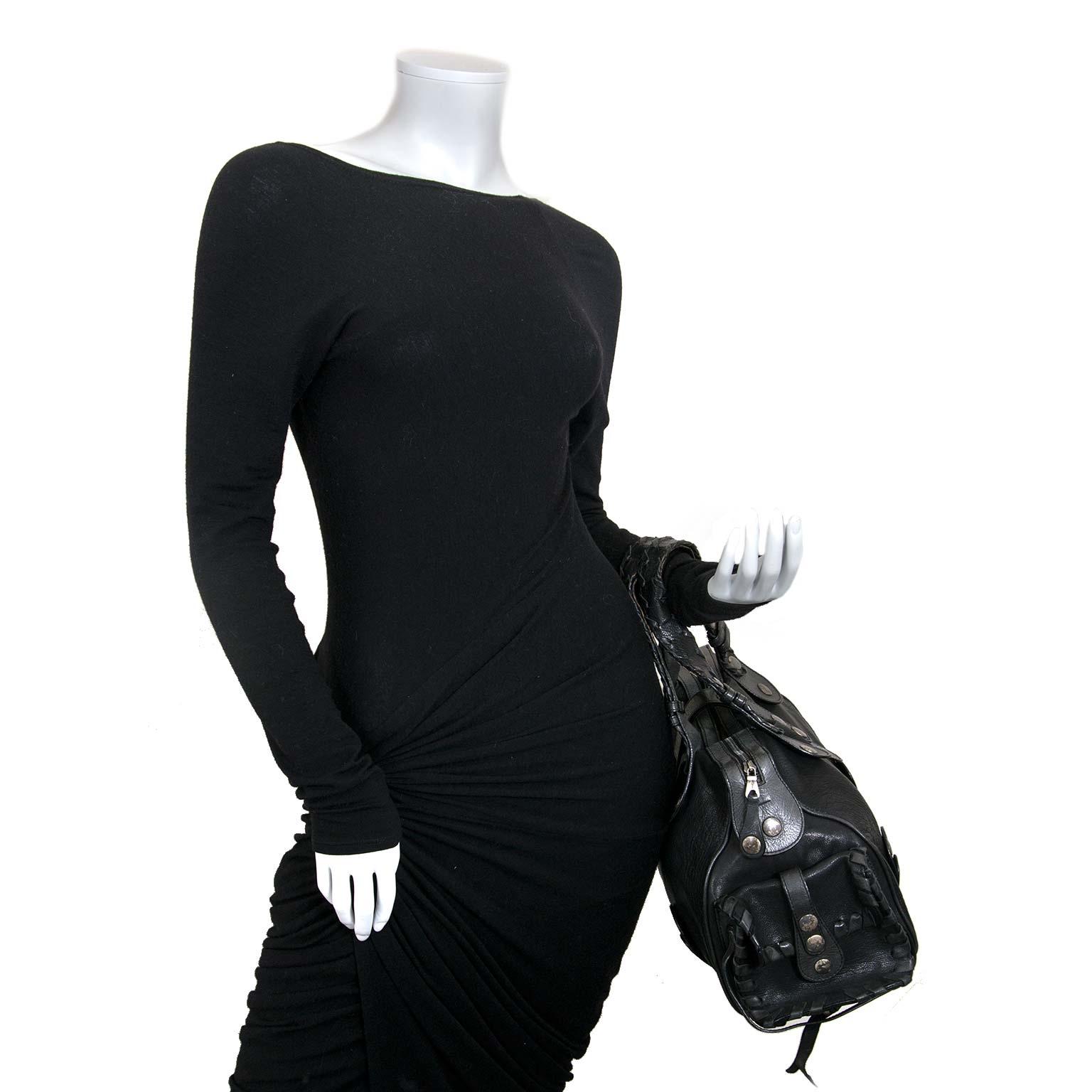 chloé black silverado bag now for sale at labellov vintage fashion webshop belgium