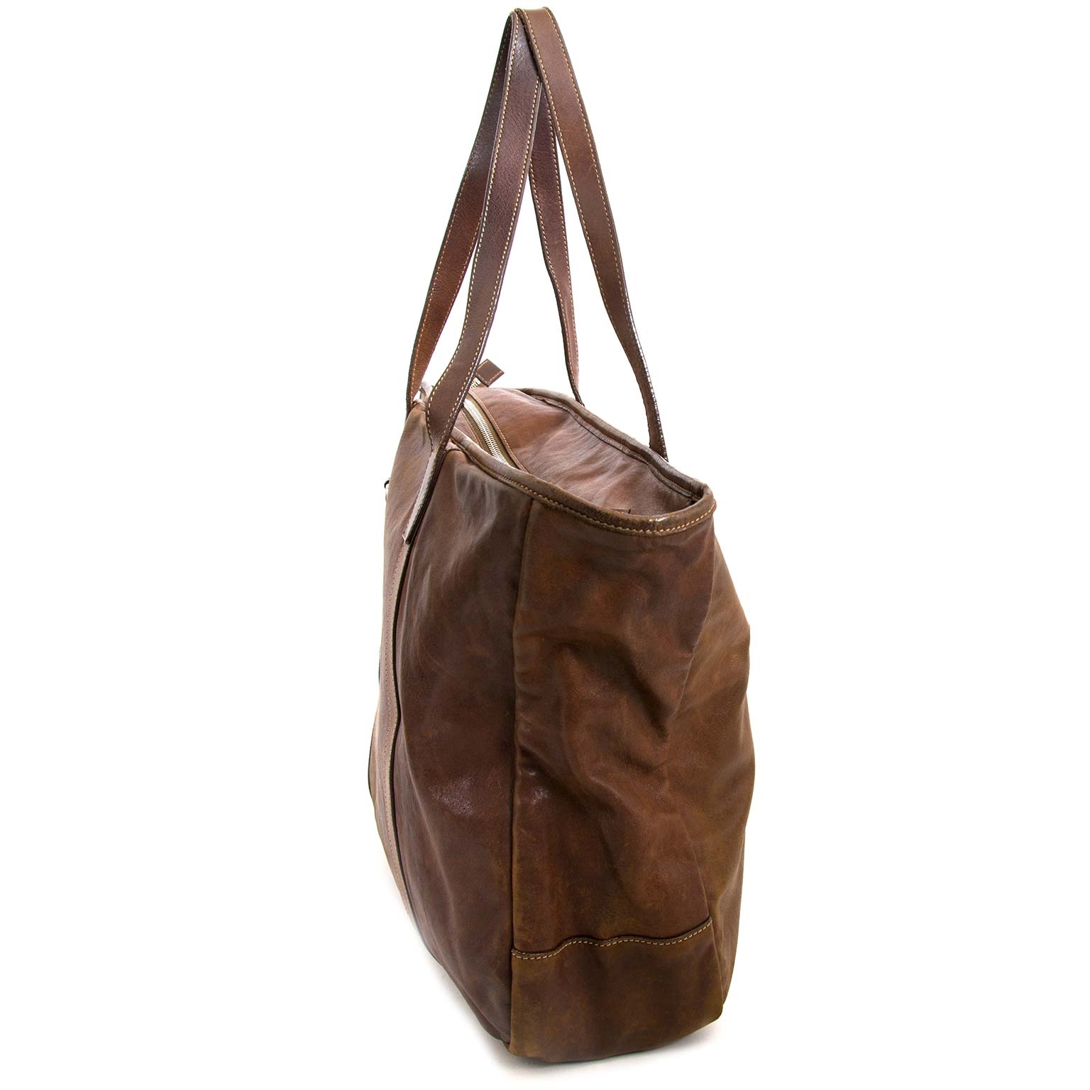 Achetez et vendez authentique Prada Brown Leather Shopper chez labellov anvers