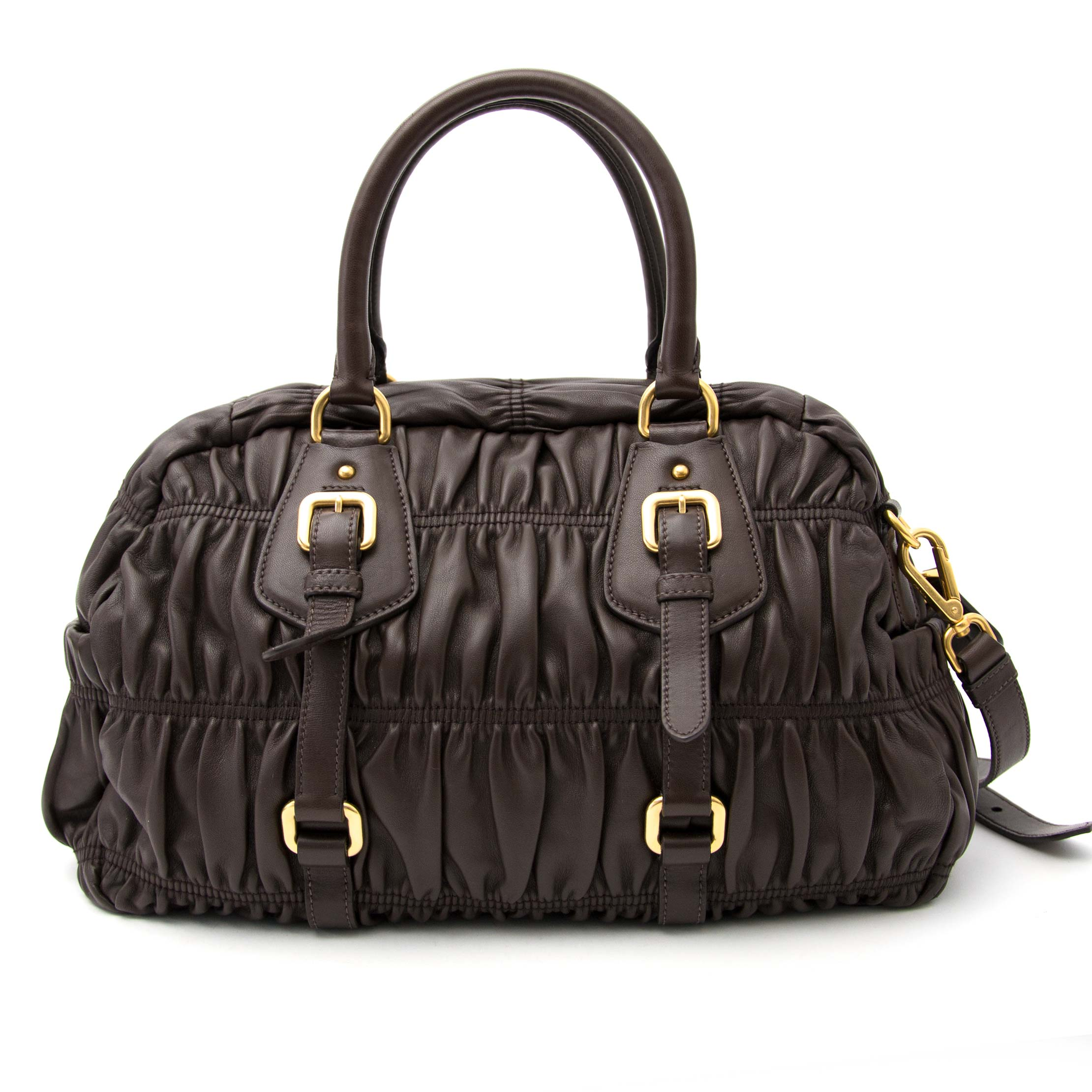 Are you looking for an authentic Prada Brown Matelasse Leather Bag?