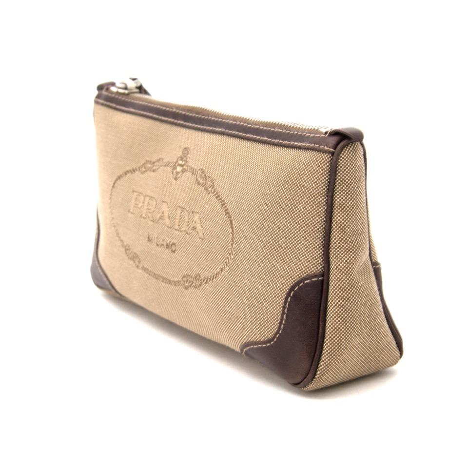 Prada Canvas Cosmetic Pouch Safe and secure online shopping. Koop authentieke tweedehandsmerken tegen de juiste prijs op LabelLOV handbag Buy authentic secondhand