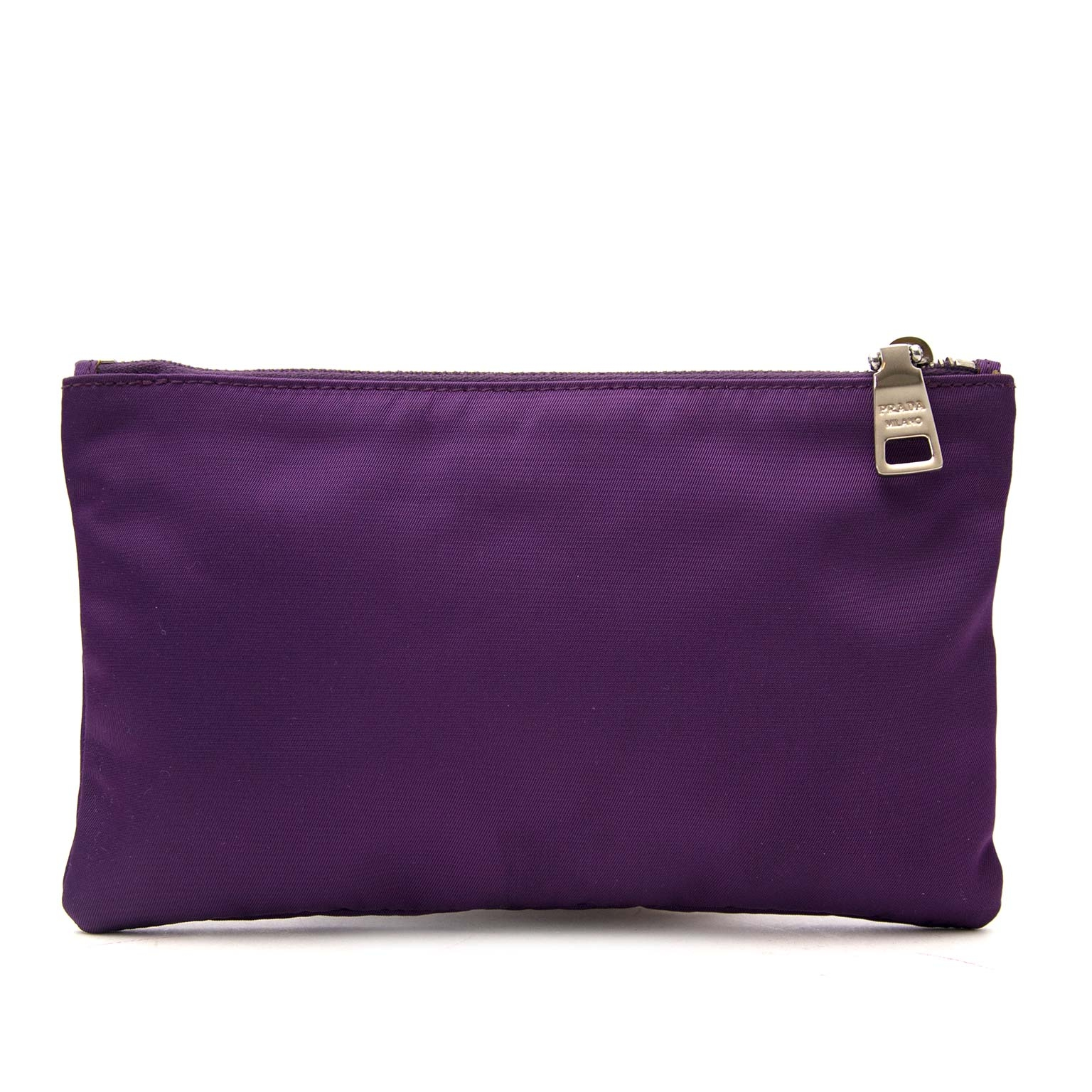 a9adeb4ccc584 ... Prada Purple Pouch With Puppy Detail Buy authentic designer Prada  secondhand bags at Labellov at the