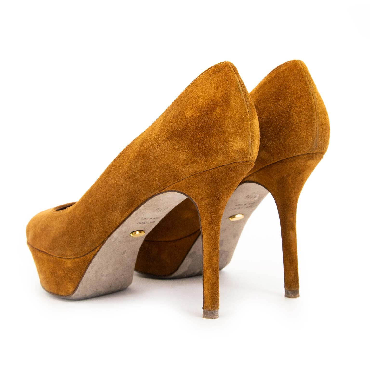 sergio rossi camel suede platform pumps now for sale at labellov vintage fashion webshop belgium