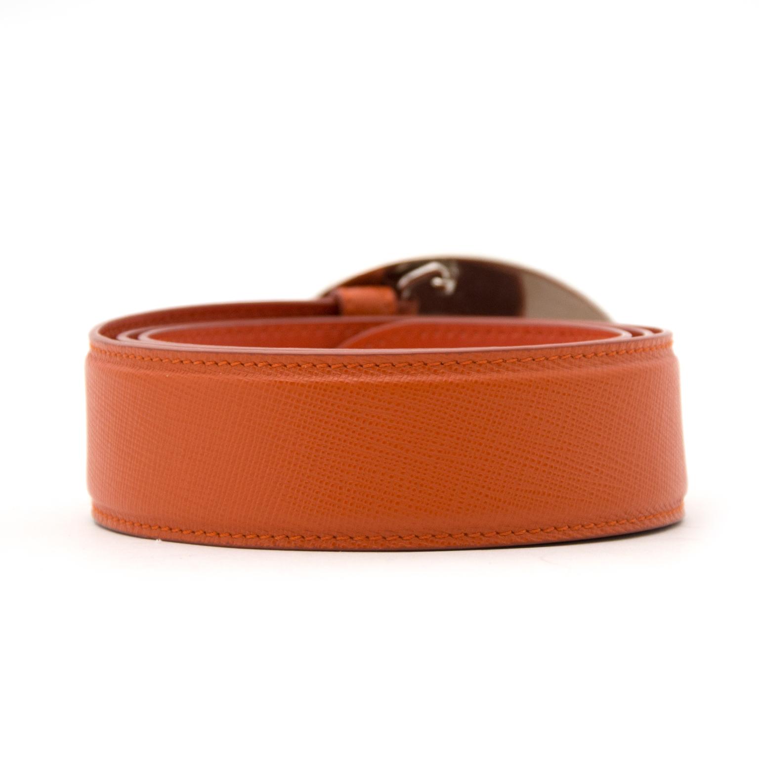 Prada Orange ceinture en ligne chez labellov.com pour le meilleir prix