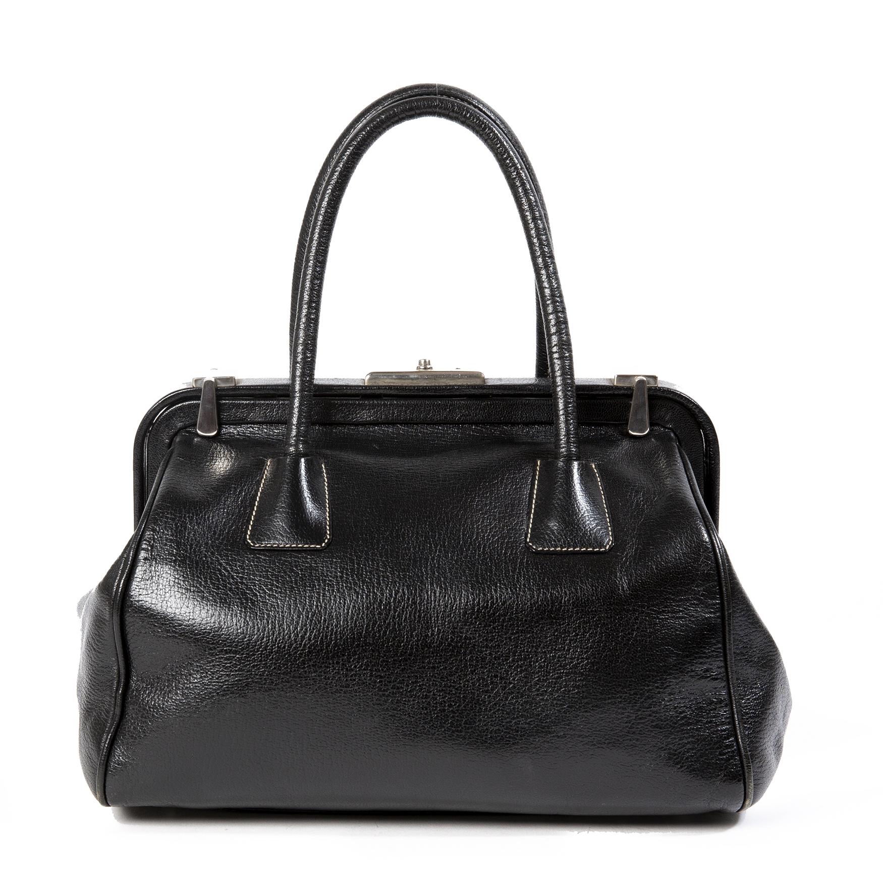 Koop en verkoop uw authentieke Prada Black Doctor's Bag