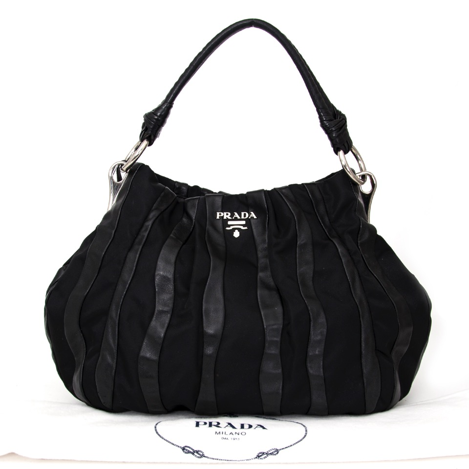 deba0766e536 Buy Prada Black Shoulder Bag Leather and nylon at the right price at  LabelLOV vintage webshop