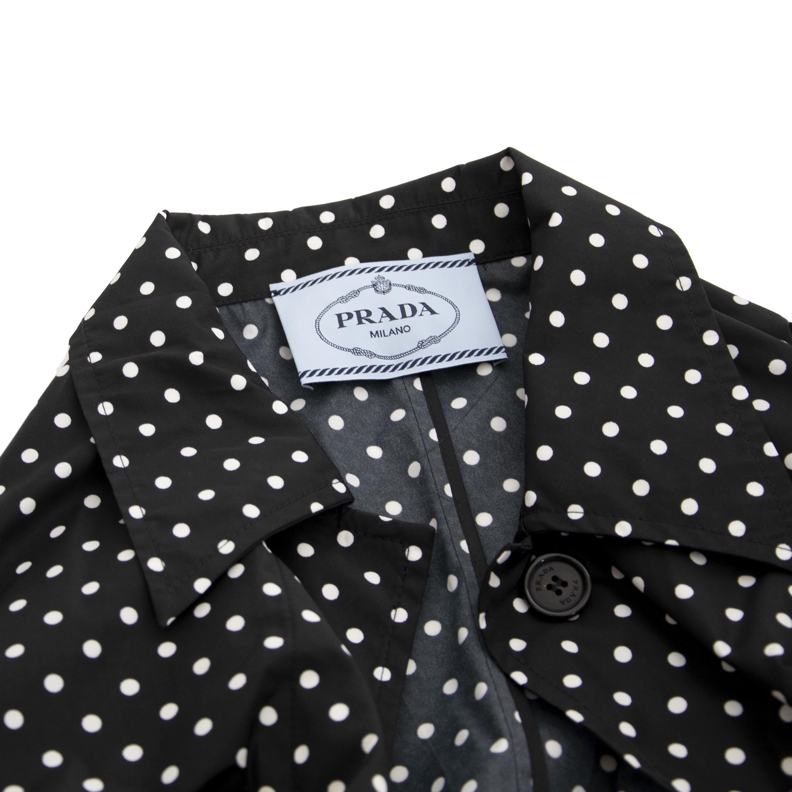 We buy and sell your authentic Prada Polka Dot Jacket
