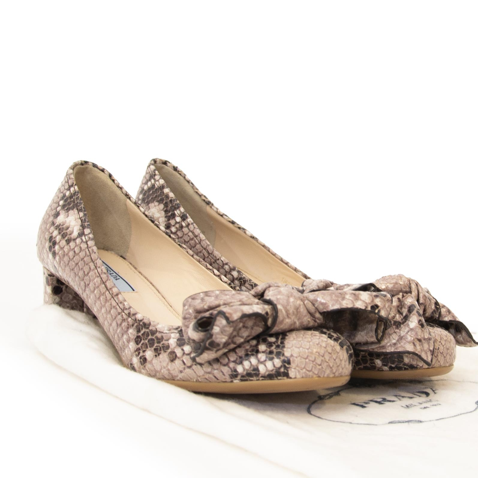 secondhand Prada heels python size 36 at Labellov