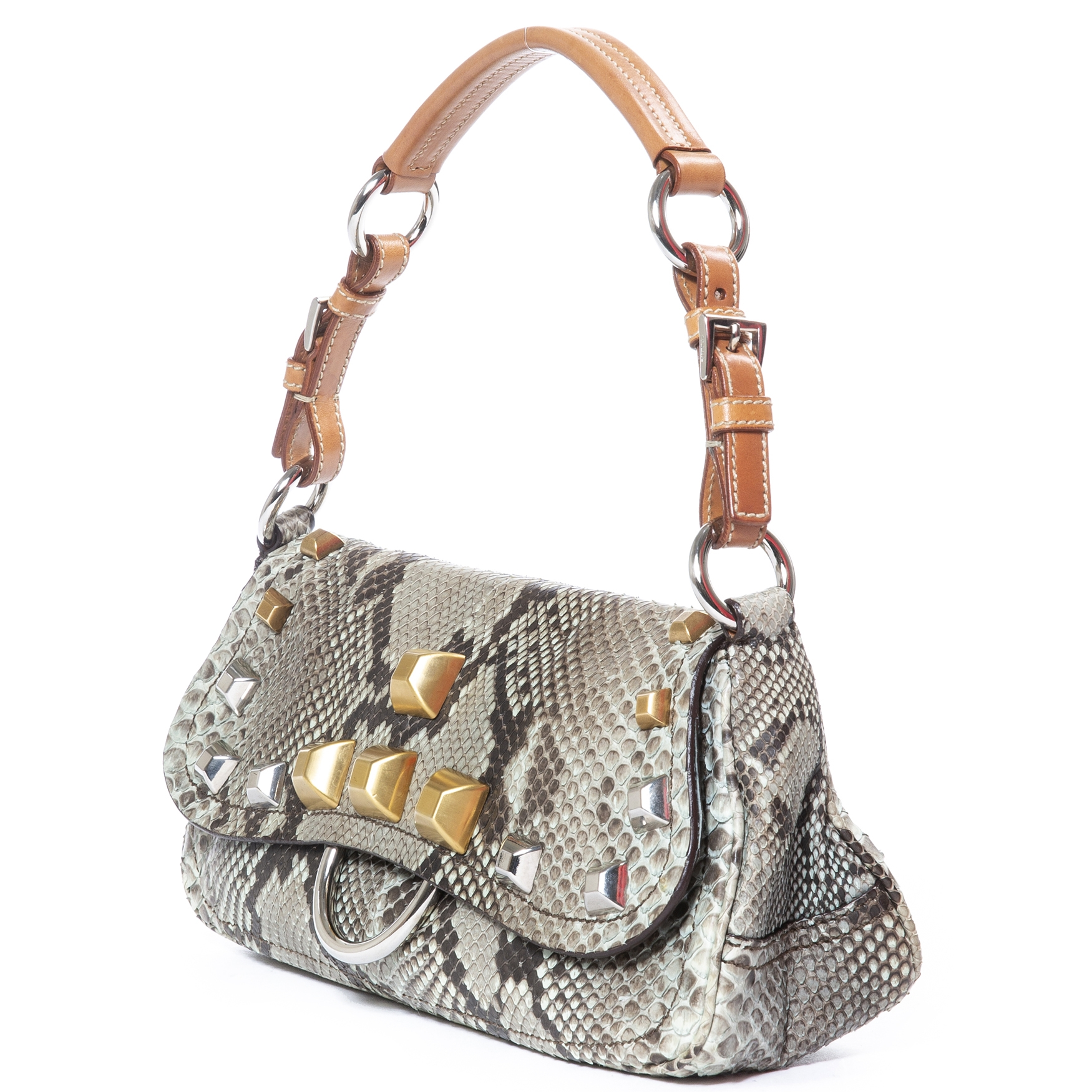 Are you looking for an iconic Prada Python Stud Shoulder Bag?