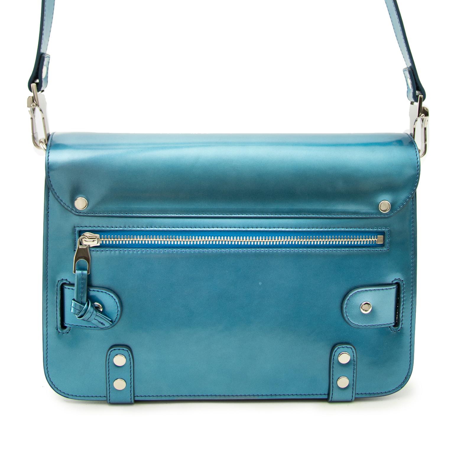 Shop safe online aan de beste prijs Proenza Shouler Metallic Blue PS11 Classic Bag