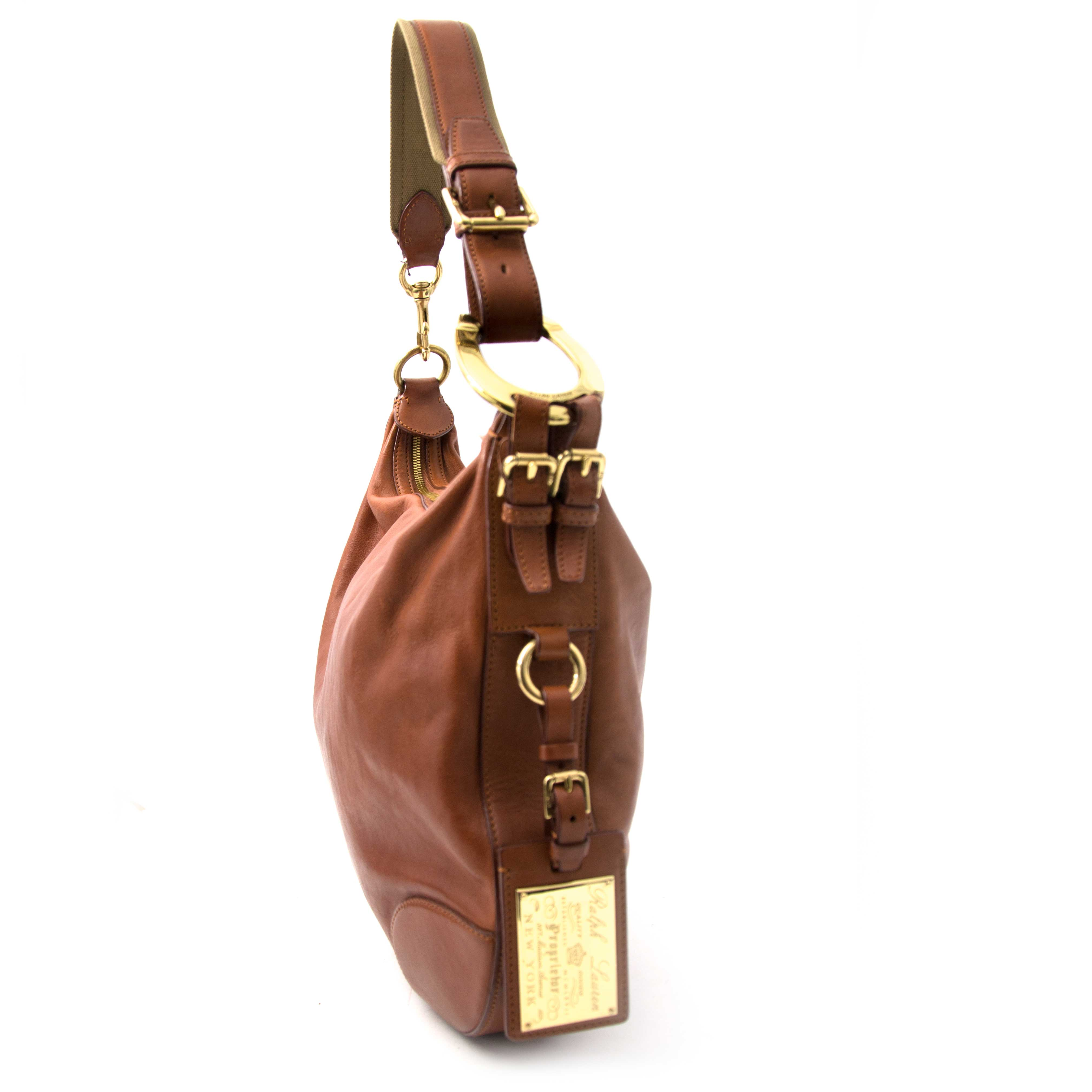 looking for a secondhand Ralph Lauren Brown Leather Hobo Bag