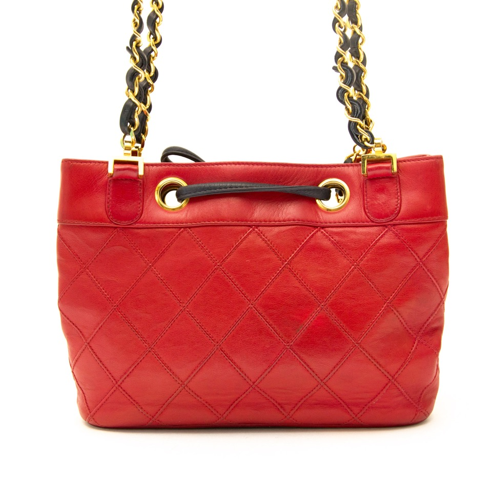 We buy and sell Chanel Red Leather Bucket Bag for the best price