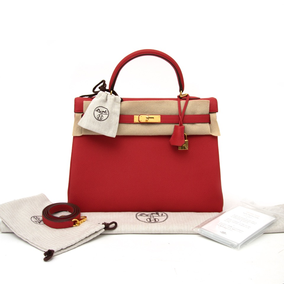 skop the waiting list brand new Brand New Hermes Kelly Retourne 35 Geranium Togo GHW