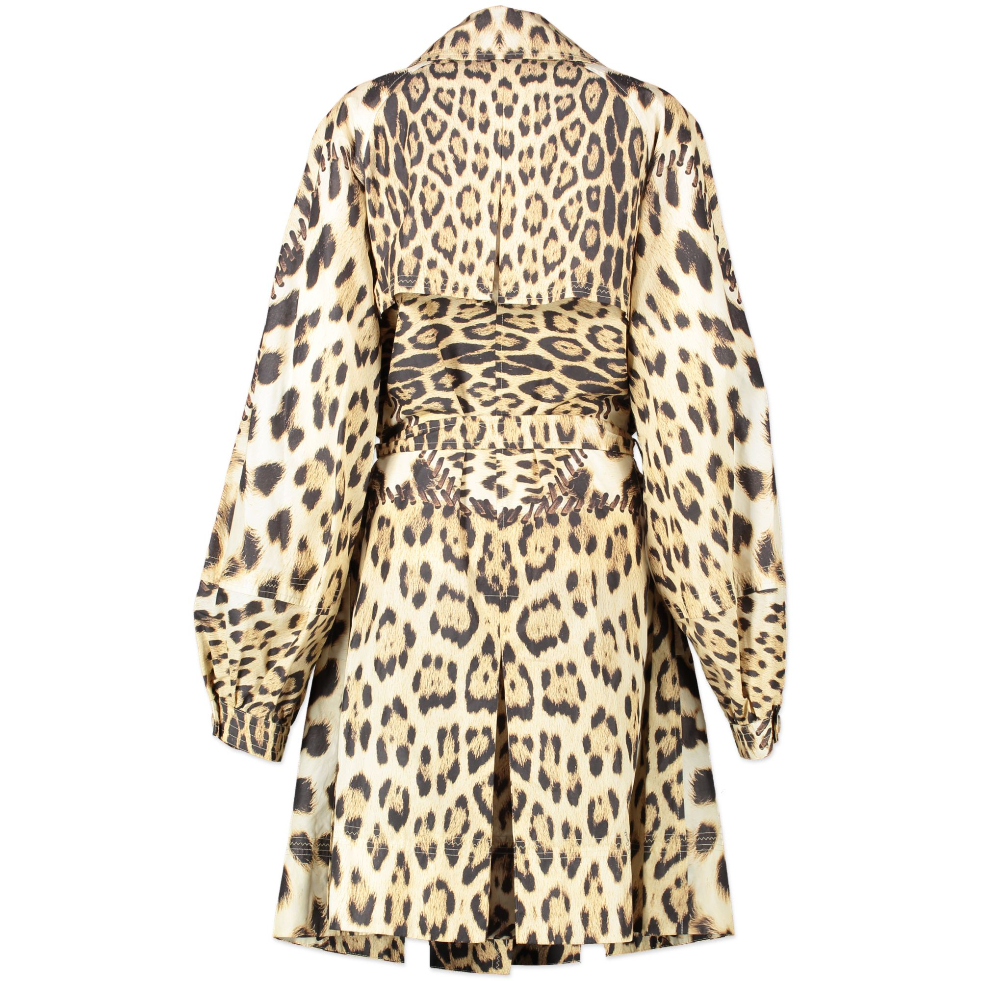 Roberto Cavalli Leopard Trench - size IT48 for sale online at Labellov secondhand
