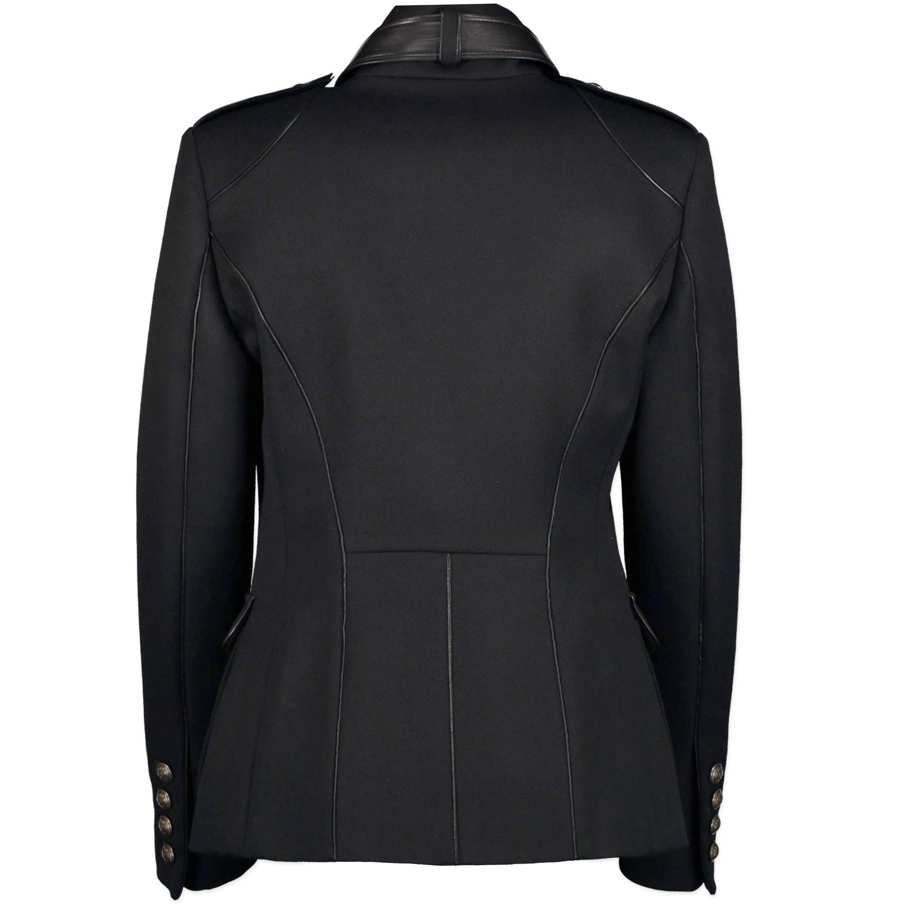 Roberto Cavalli Black Wool Military jacket - Size IT 42