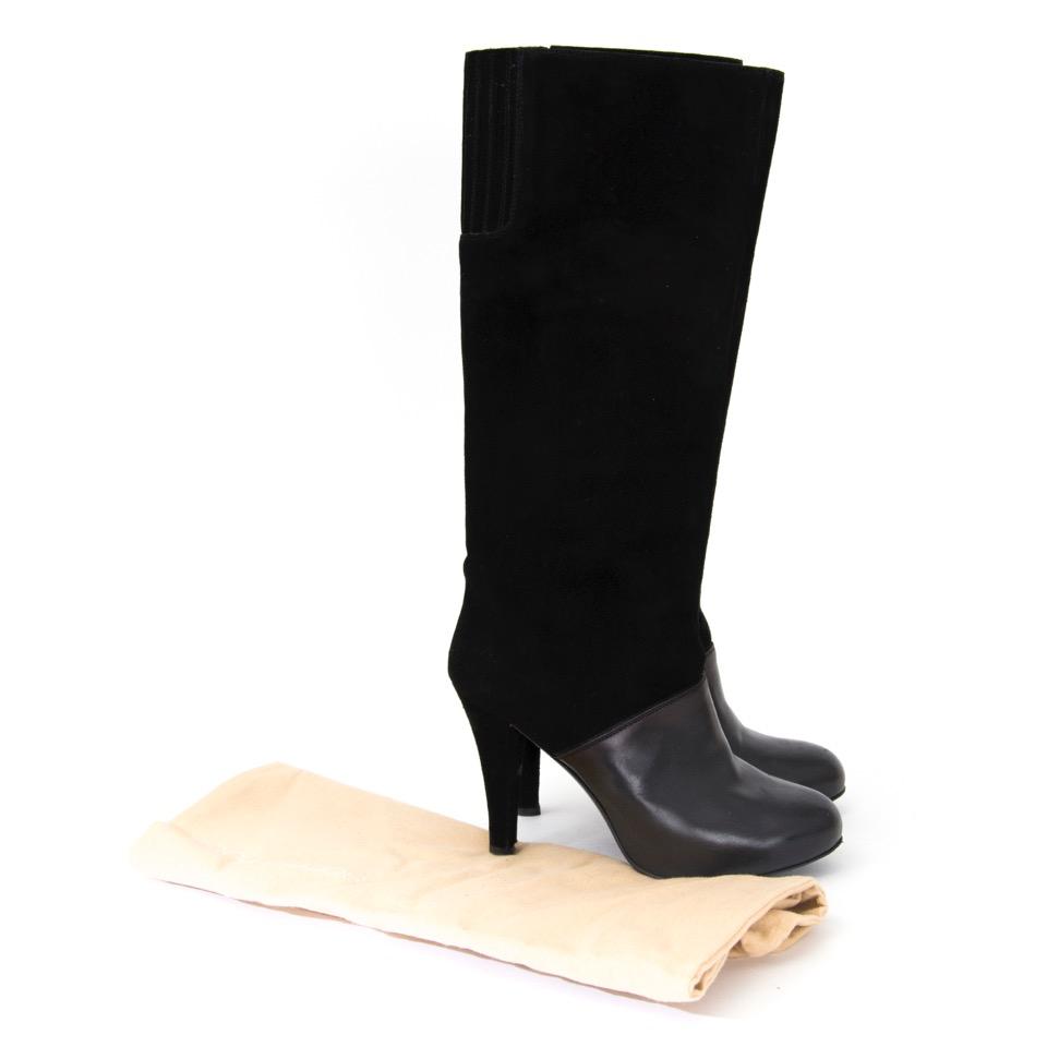 acheter en ligne comme neuf Fratelli Rossete Black Suede Tall Boots site en ligne labellov.com