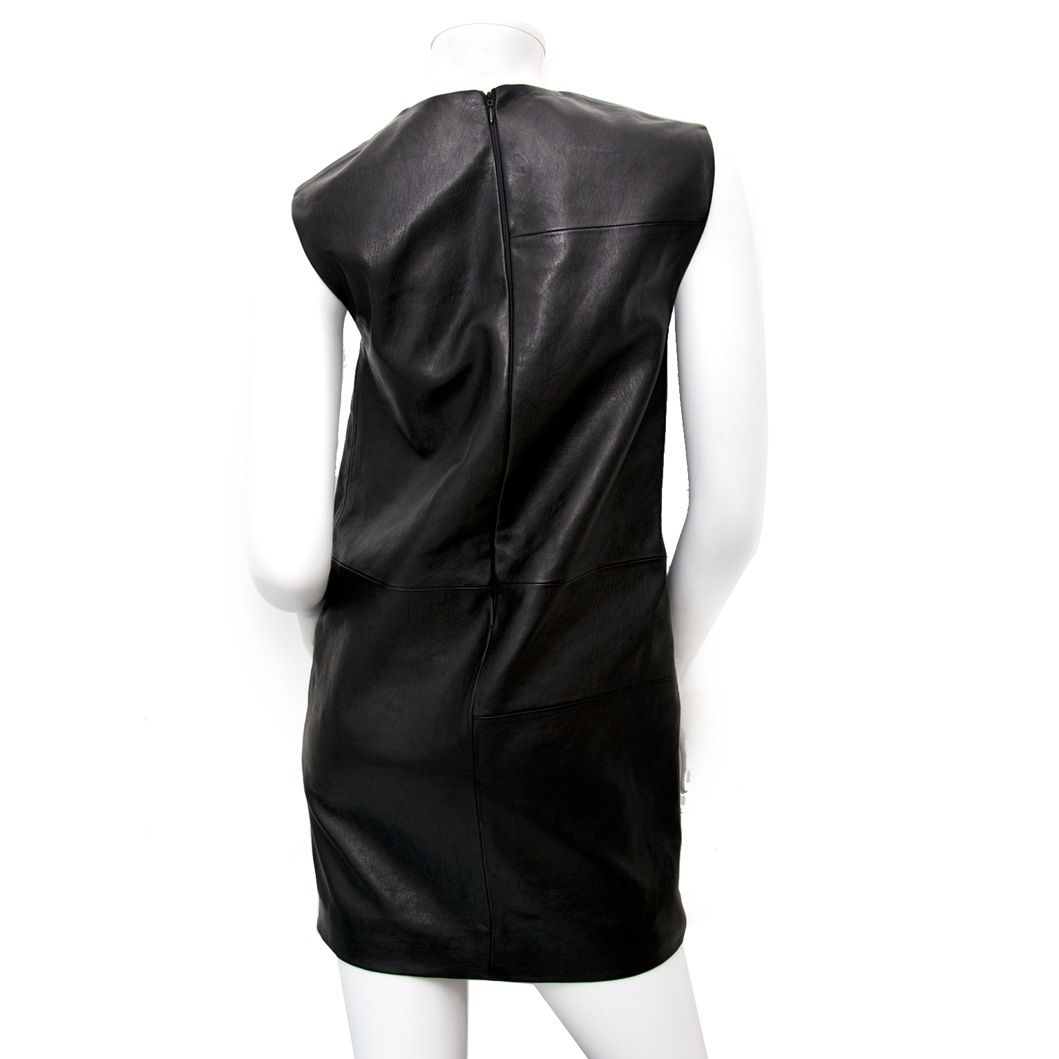 saint laurent mondrian leather dress now online at labellov.com