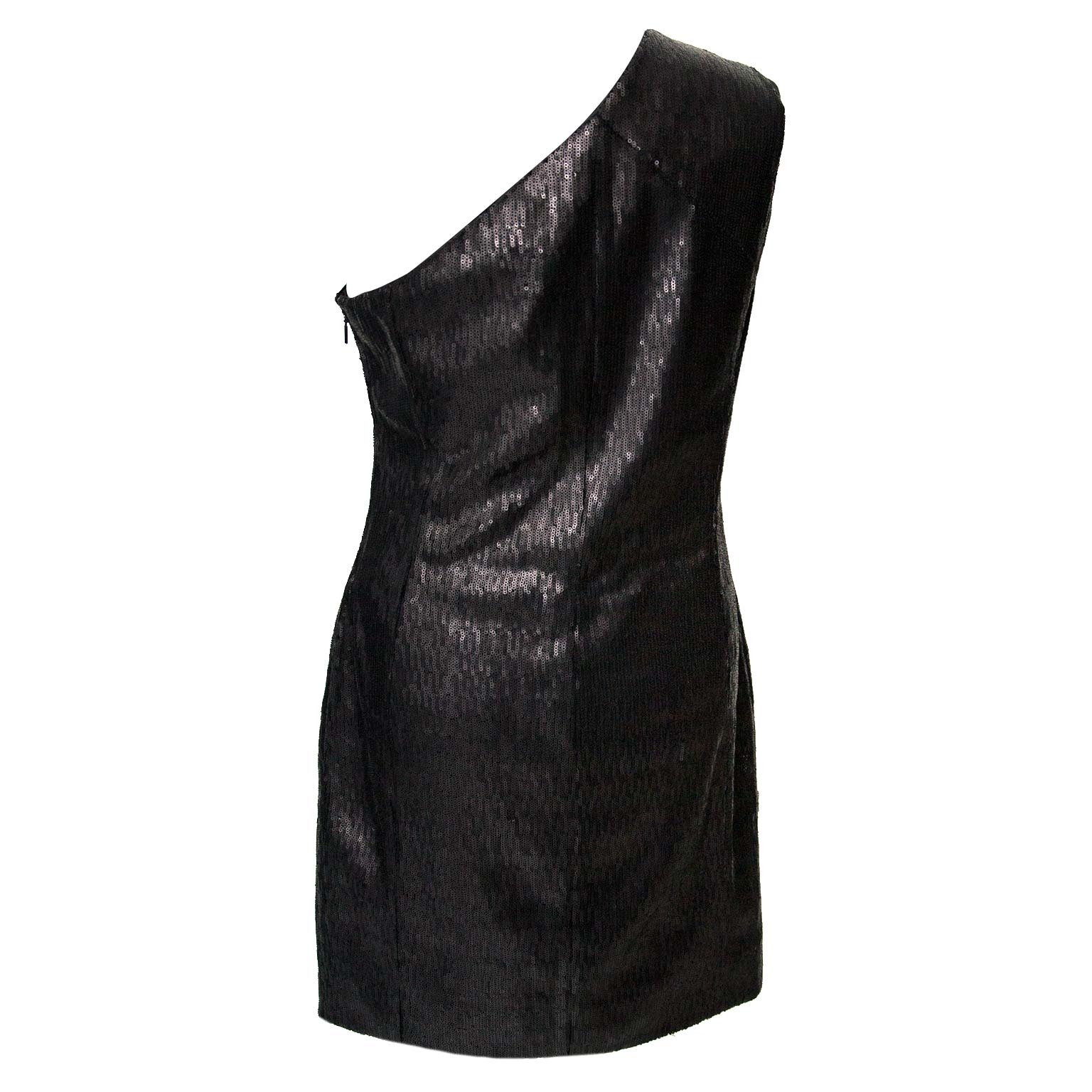 Saint Laurent Paris Black Sequin Shoulder Dress - Size 38 Buy authentic designer Saint Laurent secondhand dresses at Labellov at the best price. Safe and secure shopping. Koop tweedehands authentieke YSL jurk kleding kledij bij designer webwinkel labellov