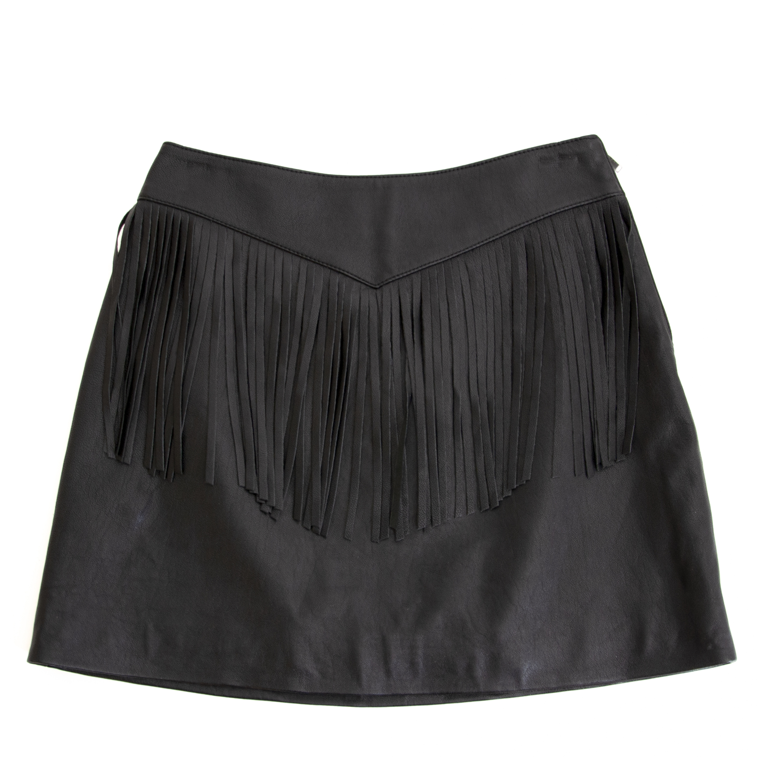 Buy authentic second hand Yves Saint Laurent Black Fringe Skirt - size 36 at online webshop LabelLOV