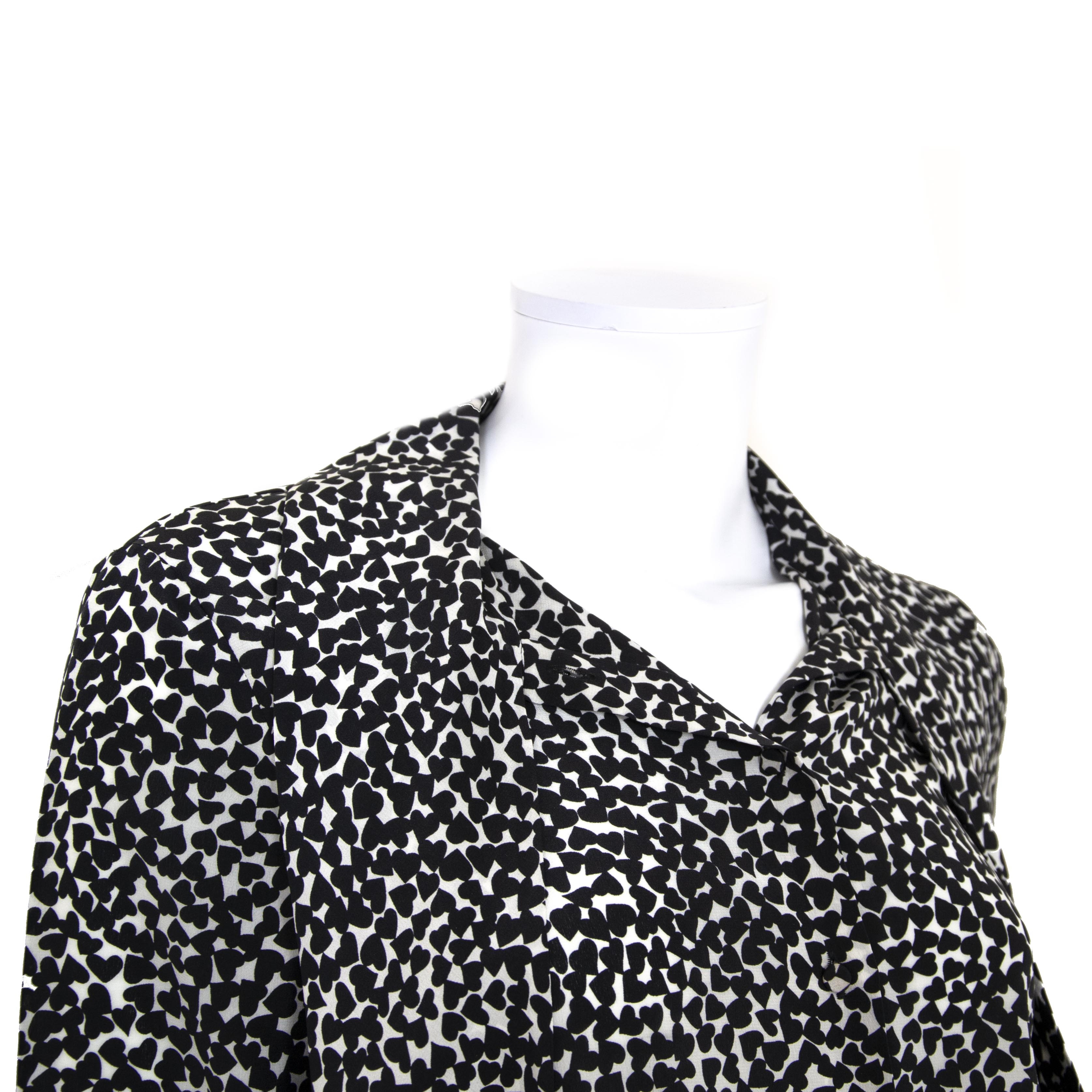 08f9f586f19409 ... buy Saint Laurent Silk Black And White Blouse - Size FR 40 at labellov  for the