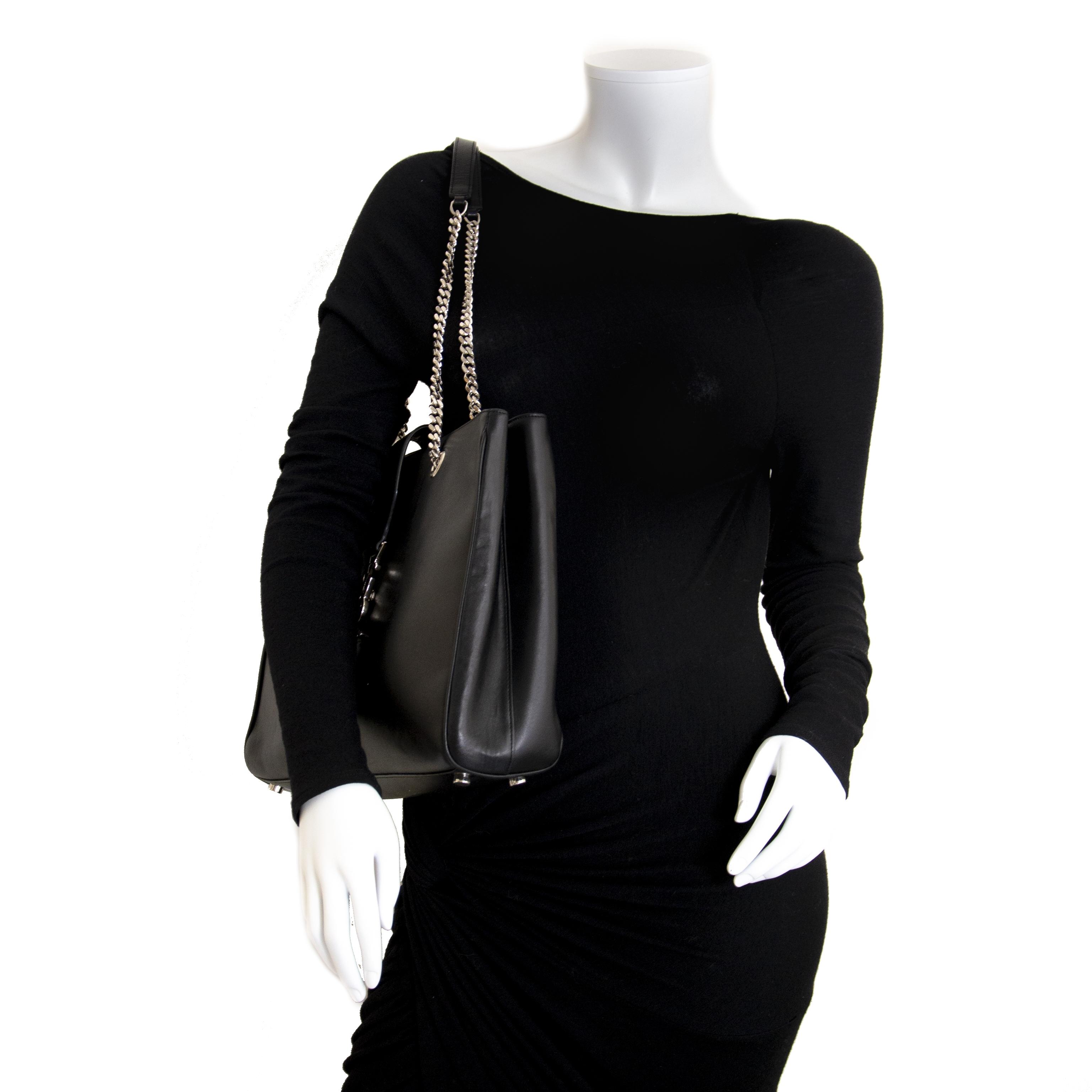 Saint Laurent Classic Monogram Shopping Bag for sale online at Labellov