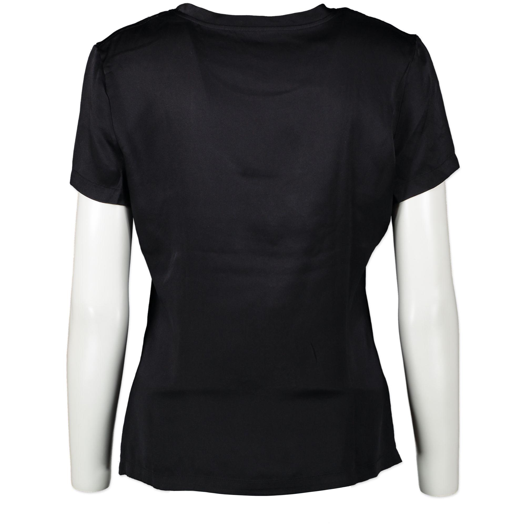 YSL Crystal Black Logo Tshirt
