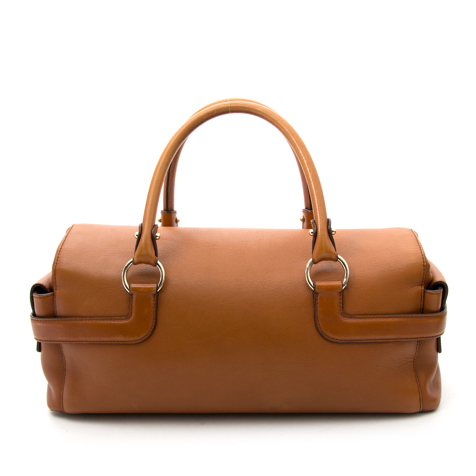 shop safe online secondhand Salvatore Ferragamo Sofia Cognac Handbag