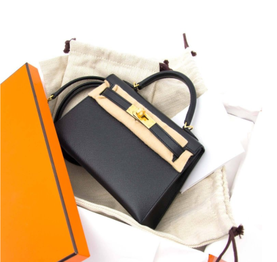 Skip the waiting list and buy your exclusive Hermes Kelly Mini II 20cm black epsom GHW