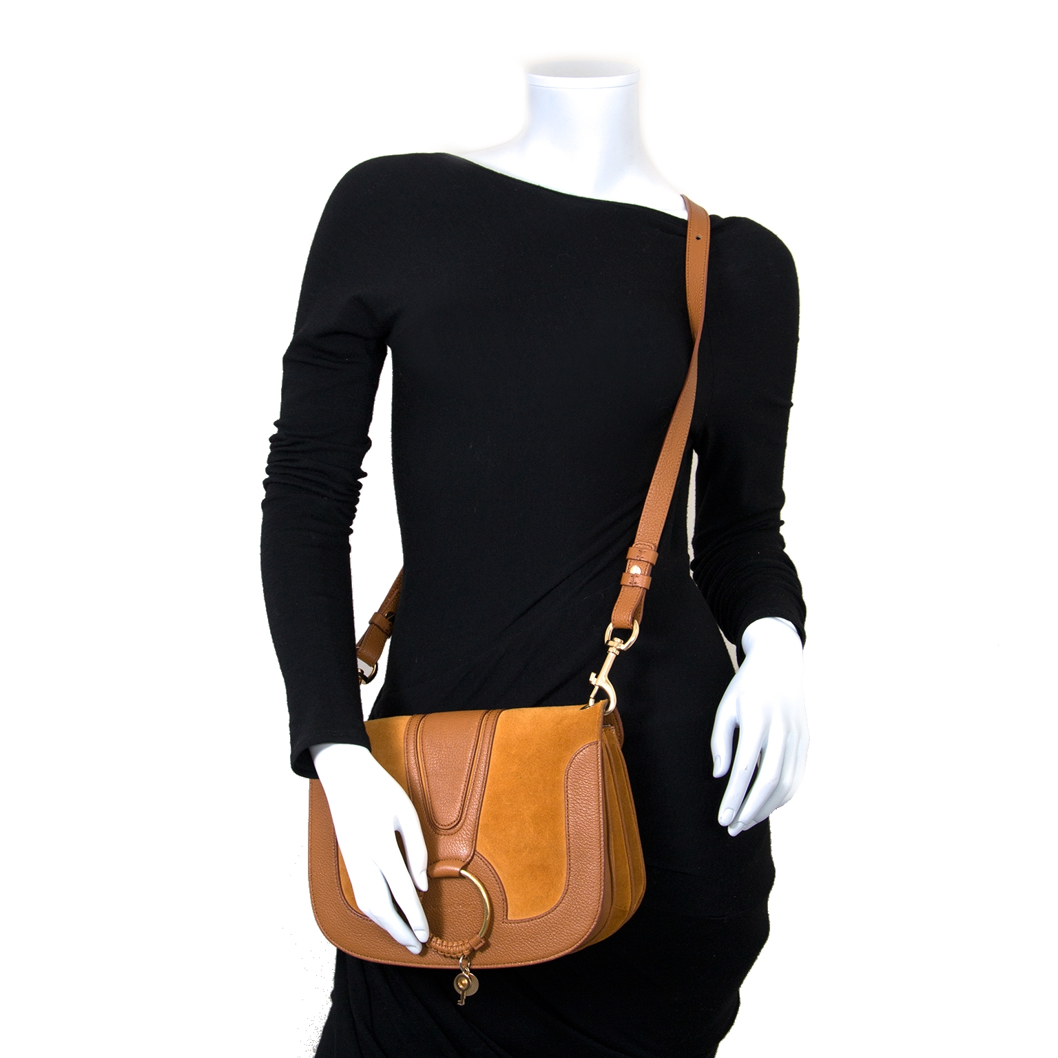 See By Chloe Cognac Hana Medium Crossbody Bag now for sale at labellov vintage fashion webshop belgium